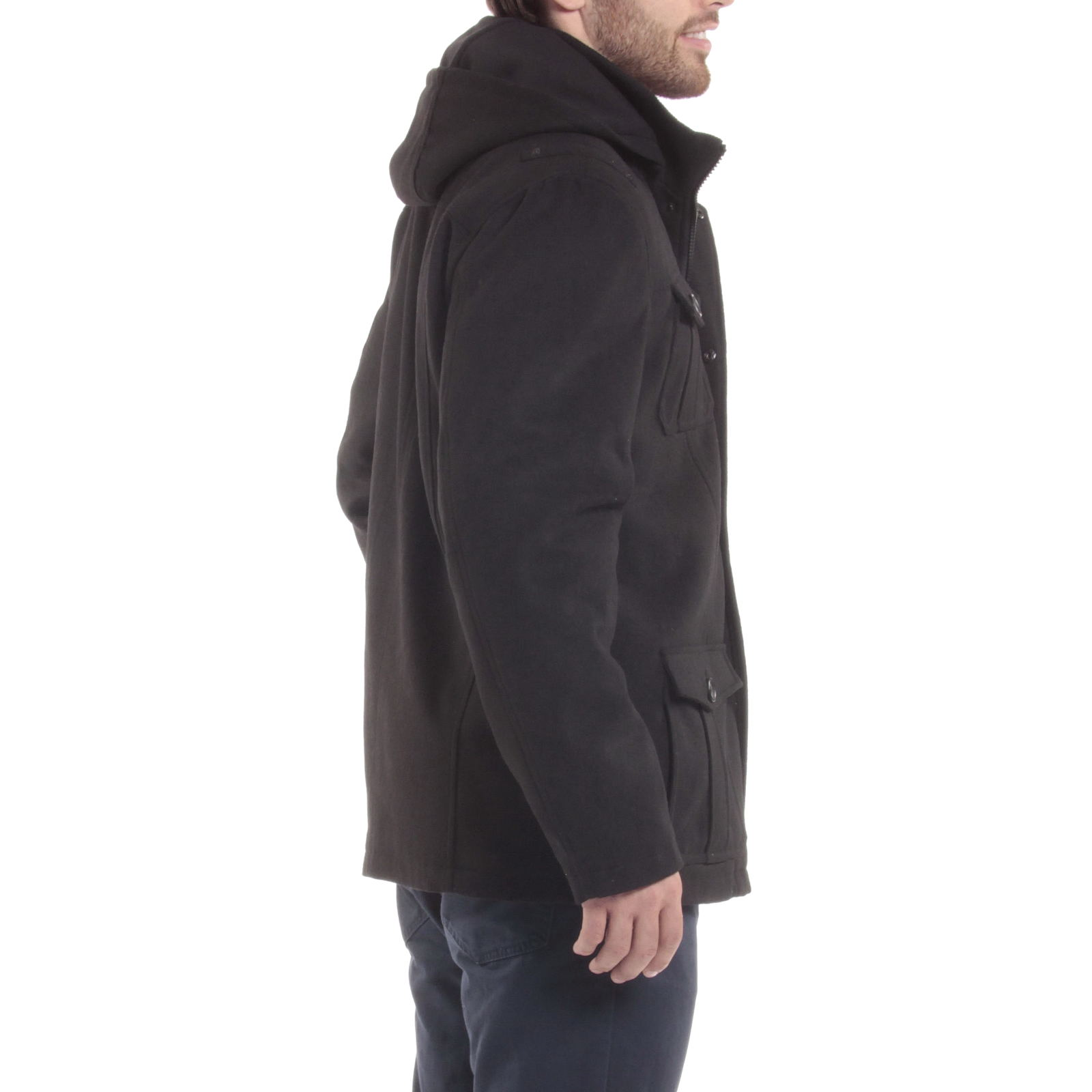 Alpine-Swiss-Noah-Mens-Wool-Coat-Parka-with-Removable-Hood-Jacket-Cargo-Pockets thumbnail 18
