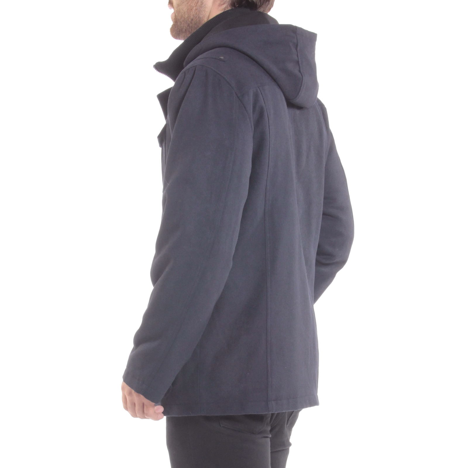 Alpine-Swiss-Noah-Mens-Wool-Coat-Parka-with-Removable-Hood-Jacket-Cargo-Pockets thumbnail 47