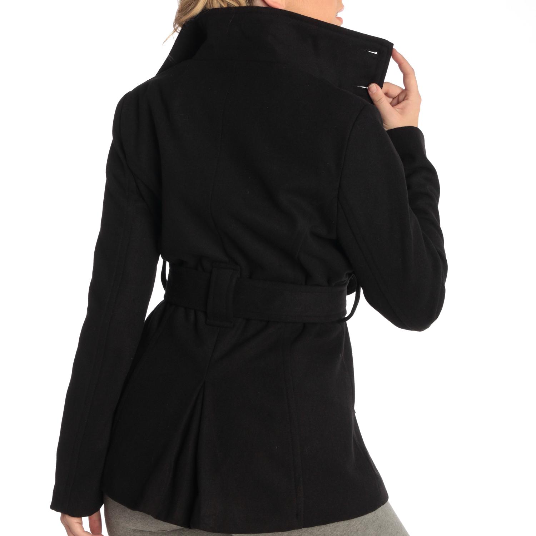 Alpine-Swiss-Bella-Women-039-s-Belted-Blazer-Button-Up-Wool-Coat-Funnel-Neck-Jacket