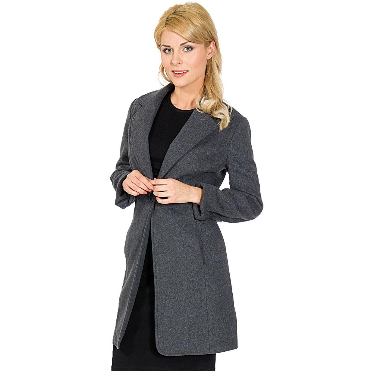 Alpine Swiss Stella Women's Wool Single Button Overcoat 7 ...