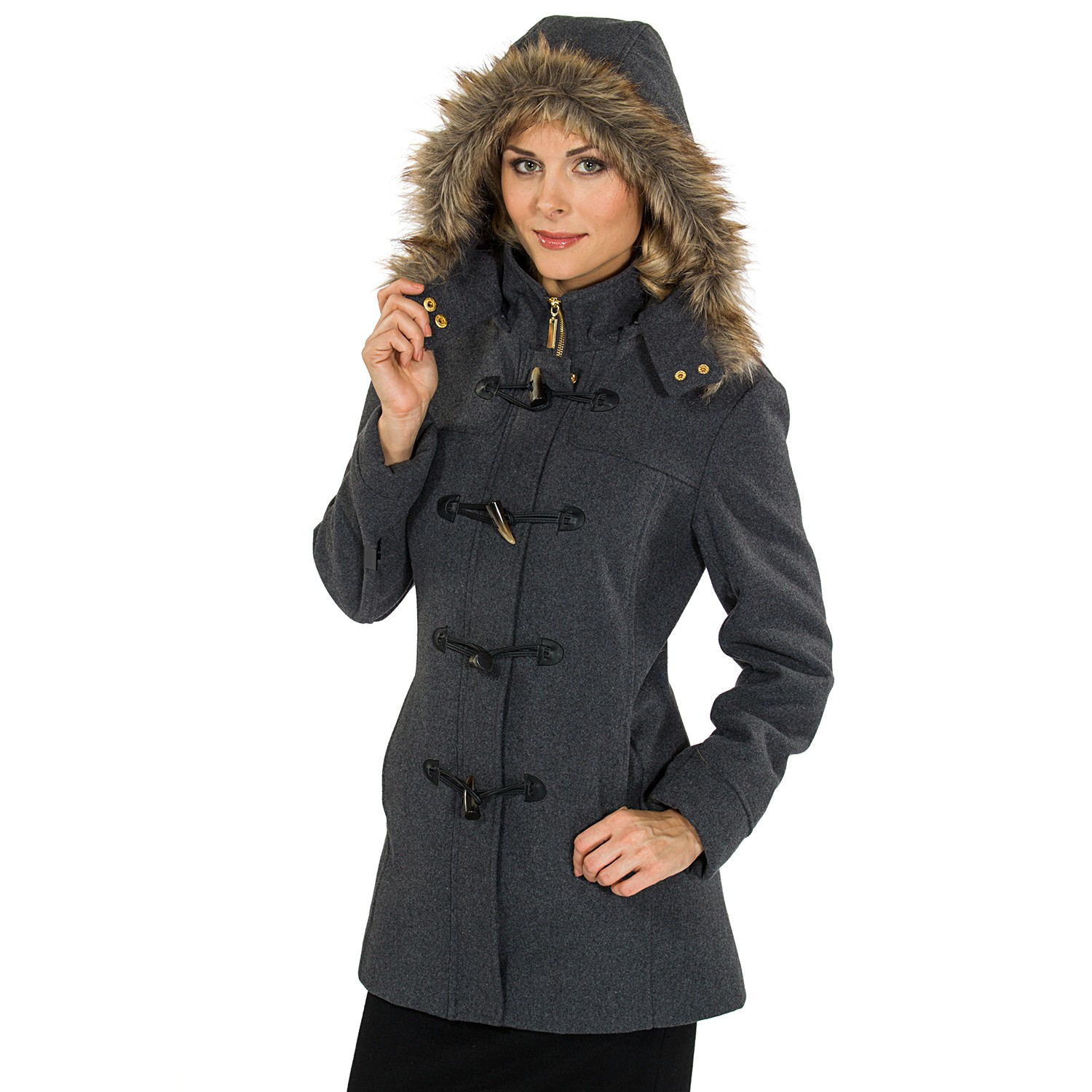 STYLISH OUTERWEAR FOR WOMEN. Outerwear can define a woman's look. This season's outerwear adapts to any weather with style. Wrap yourself in fleece, down or faux fur on the coldest of days. HOODED FAUX FUR COAT. MASCULINE COAT. DOUBLE-BREASTED COAT. WATER RESISTANT QUILTED COAT. NEW. DOUBLE-BREASTED COLORED COAT. COLORS. TEXTURED COAT.