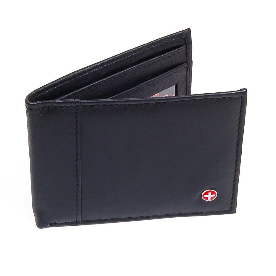 Alpine-Swiss-Mens-Thin-Bifold-Wallet-Top-Grain-Leather-EZ-Access-Outer-Card-Slot thumbnail 84