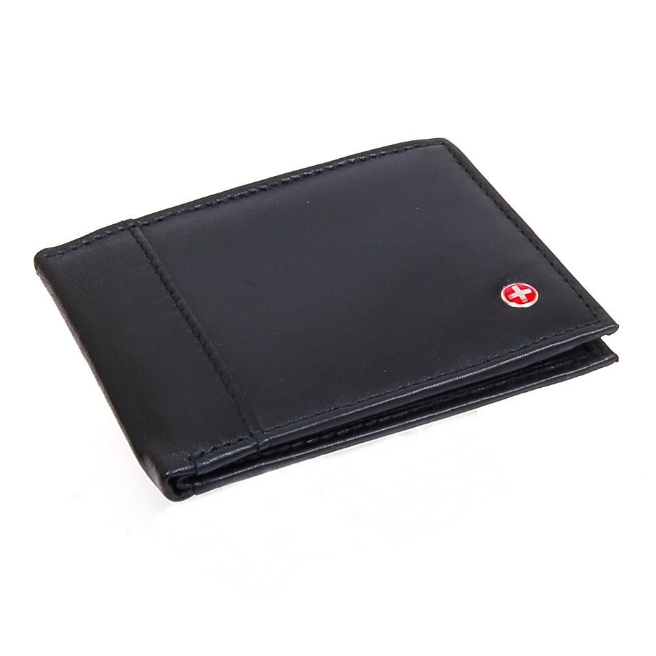 Alpine-Swiss-Mens-Thin-Bifold-Wallet-Top-Grain-Leather-EZ-Access-Outer-Card-Slot thumbnail 88