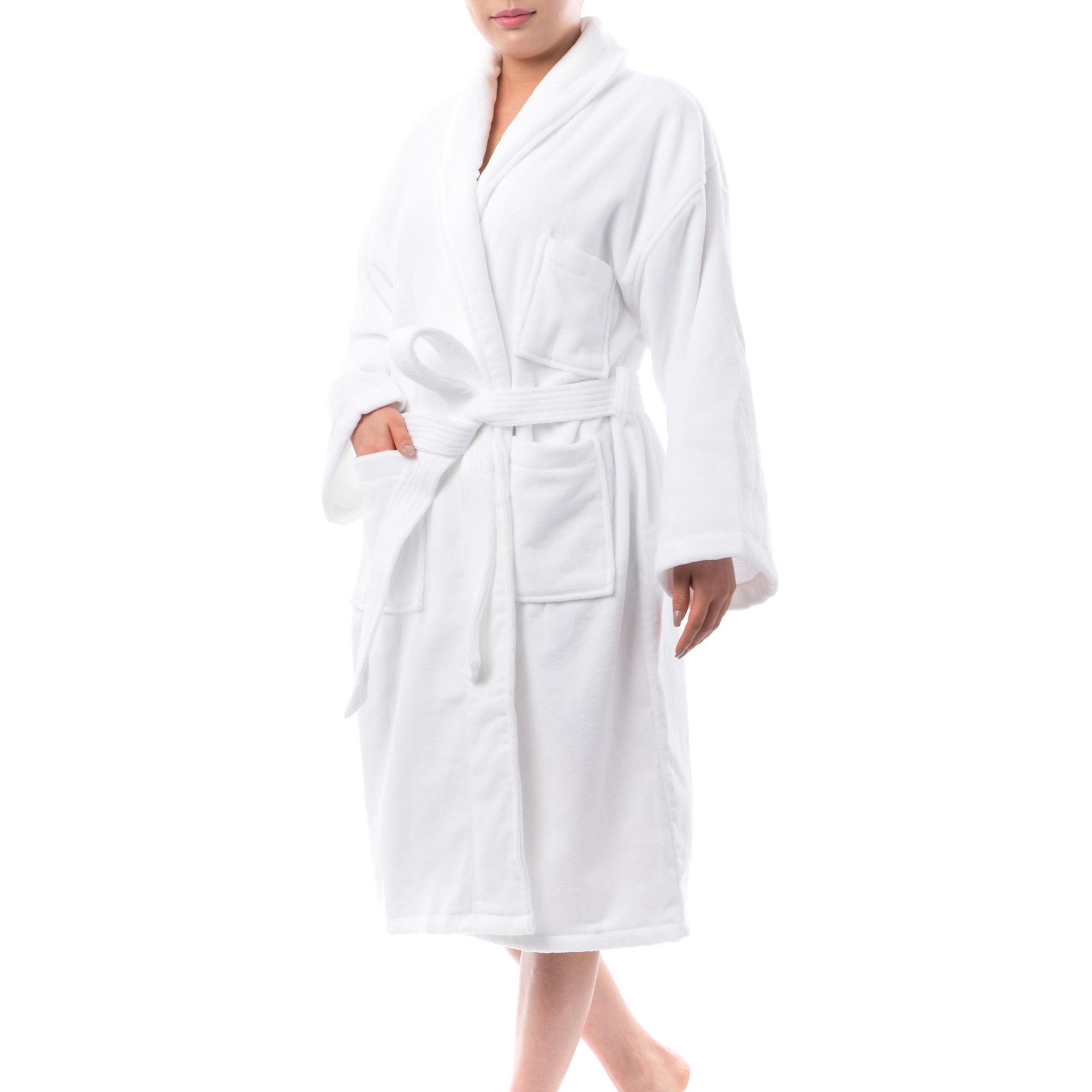 0b68a0404a AlpineSwiss Blair Women Cotton Terry Cloth Bathrobe Shawl Collar Velour Spa  Robe