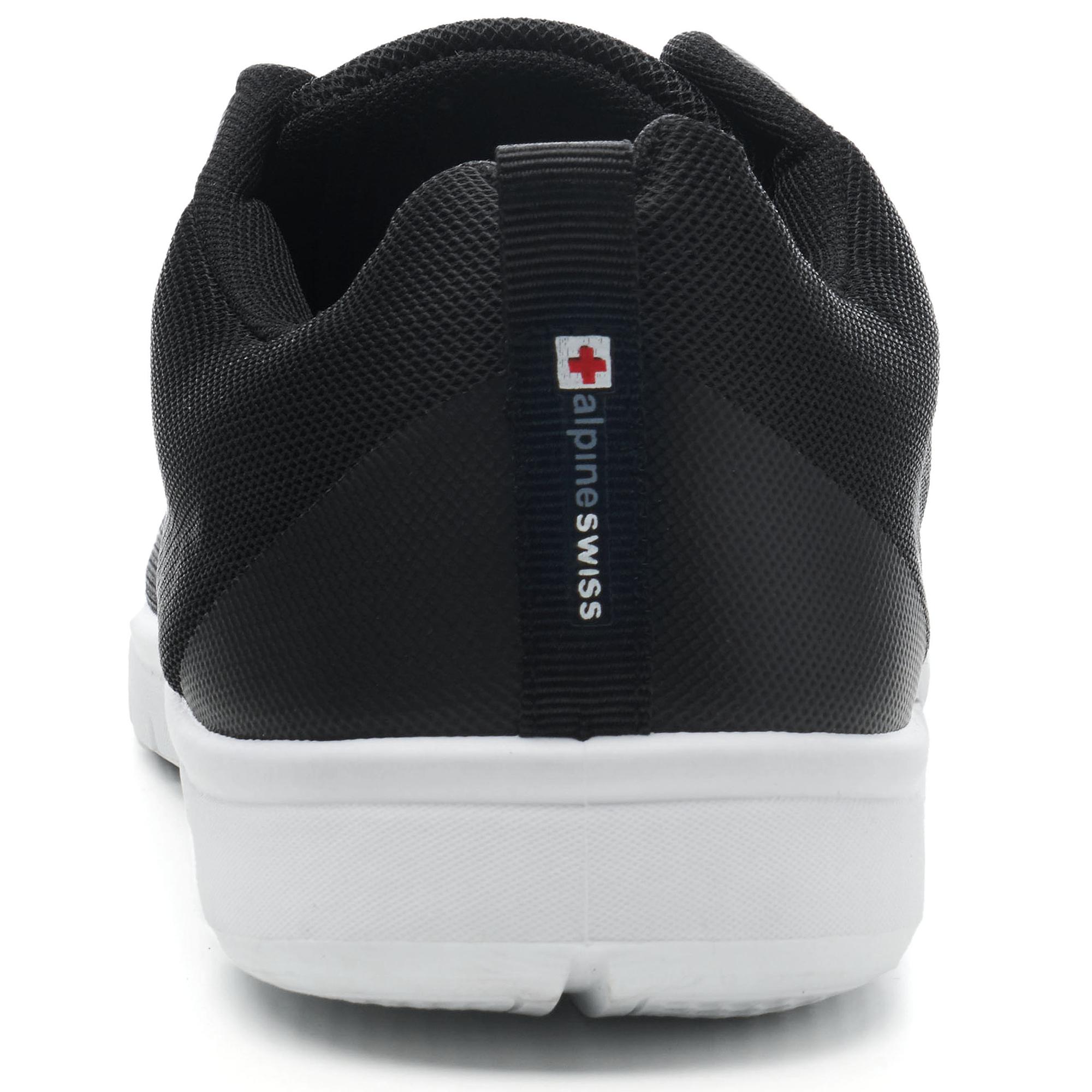 thumbnail 14 - Alpine Swiss Bolt Mesh Sneaker Casual Light Shoes For Men With Shoe Bag