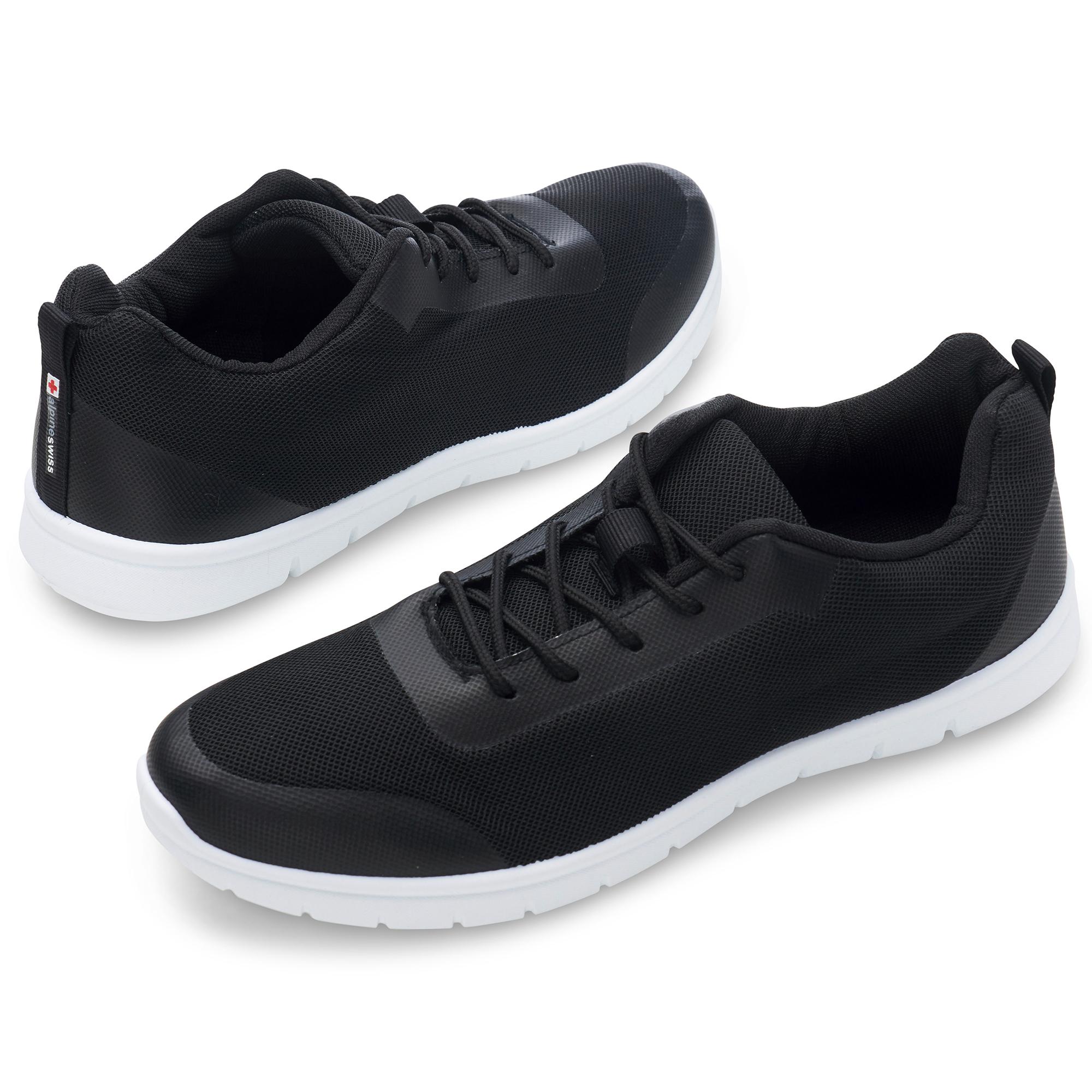 thumbnail 18 - Alpine Swiss Bolt Mesh Sneaker Casual Light Shoes For Men With Shoe Bag
