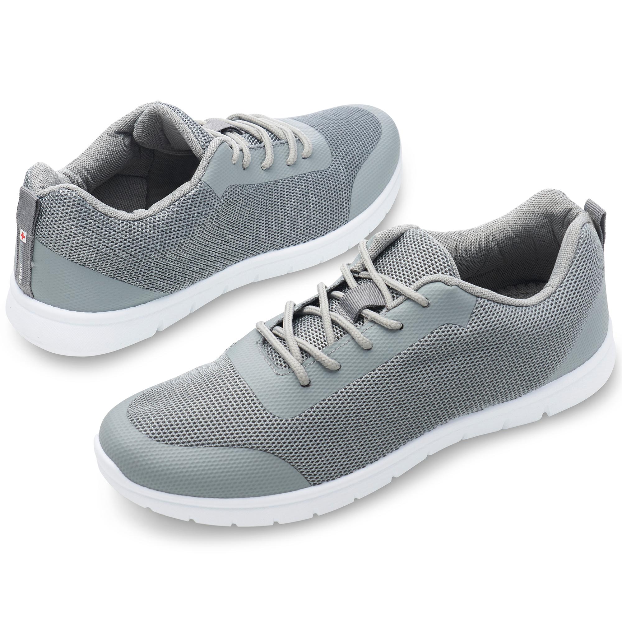 thumbnail 27 - Alpine Swiss Bolt Mesh Sneaker Casual Light Shoes For Men With Shoe Bag