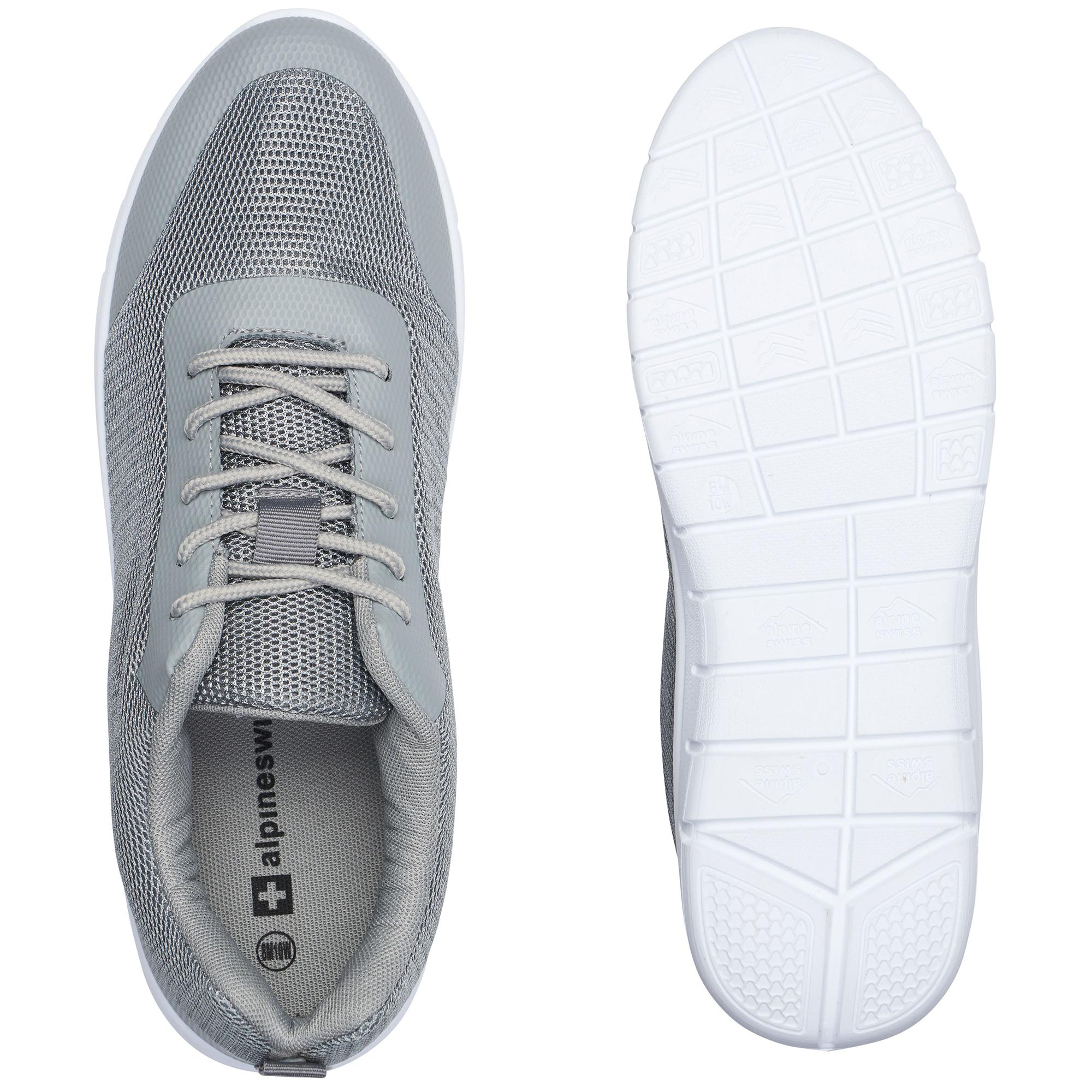 thumbnail 25 - Alpine Swiss Bolt Mesh Sneaker Casual Light Shoes For Men With Shoe Bag