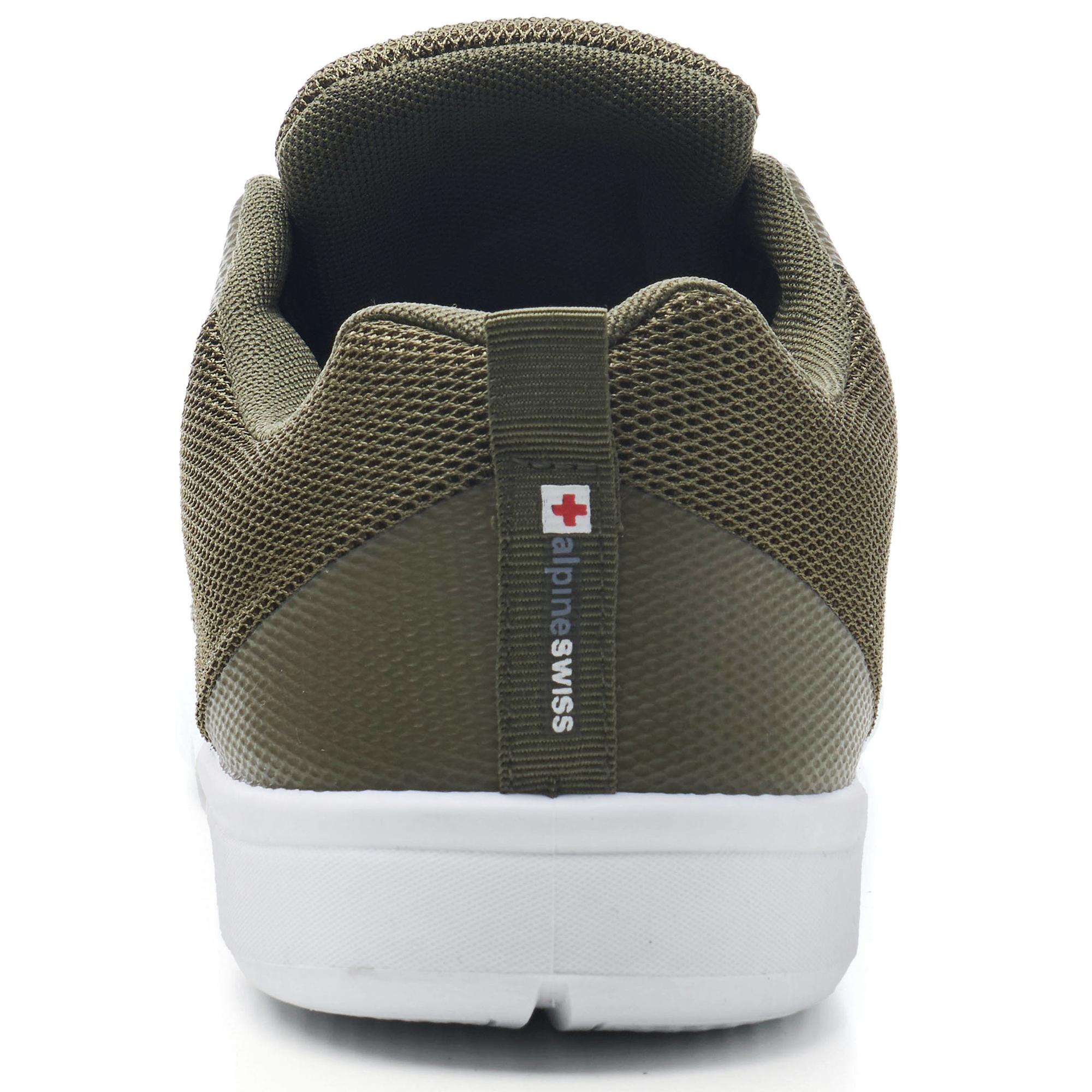 thumbnail 31 - Alpine Swiss Bolt Mesh Sneaker Casual Light Shoes For Men With Shoe Bag