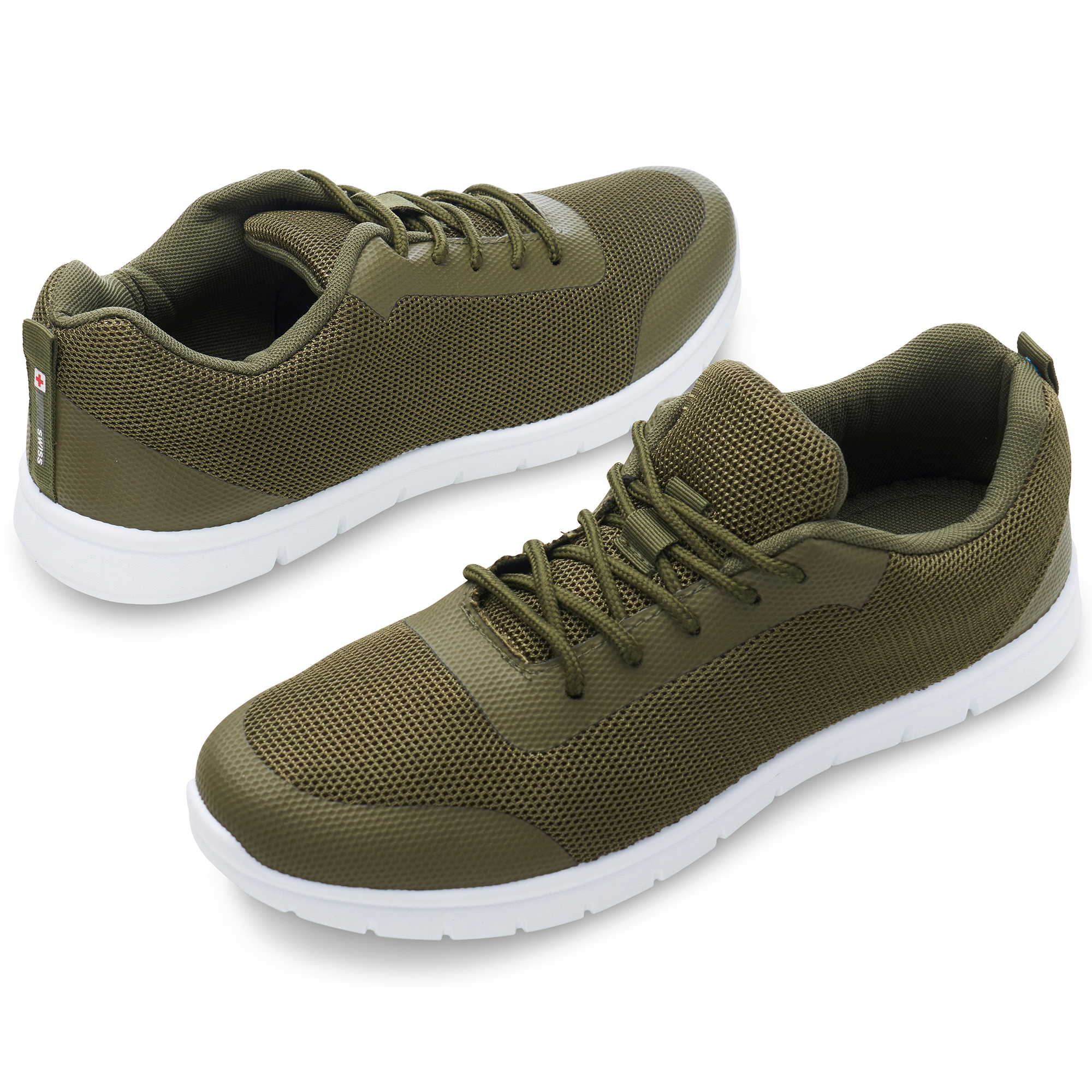 thumbnail 36 - Alpine Swiss Bolt Mesh Sneaker Casual Light Shoes For Men With Shoe Bag