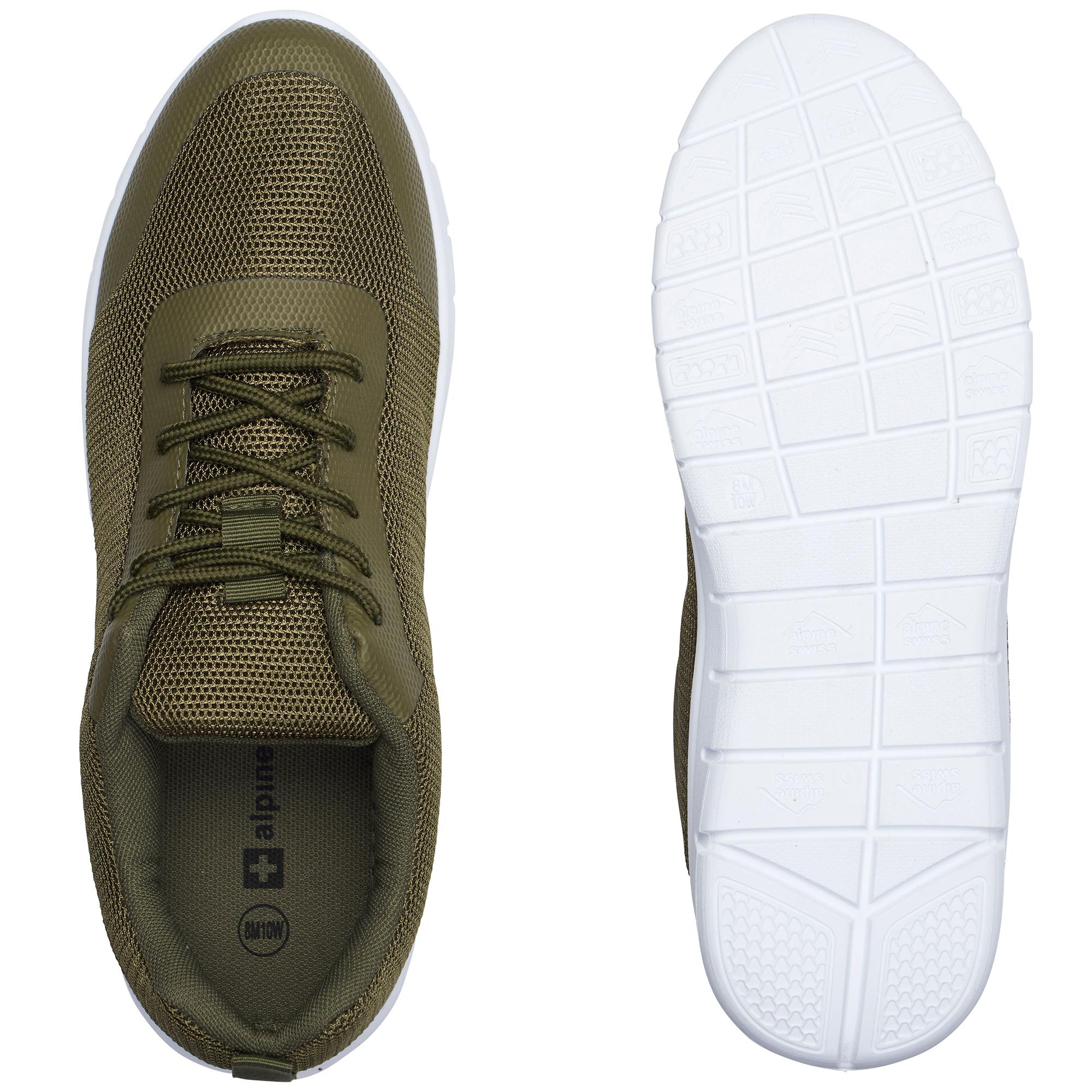 thumbnail 35 - Alpine Swiss Bolt Mesh Sneaker Casual Light Shoes For Men With Shoe Bag