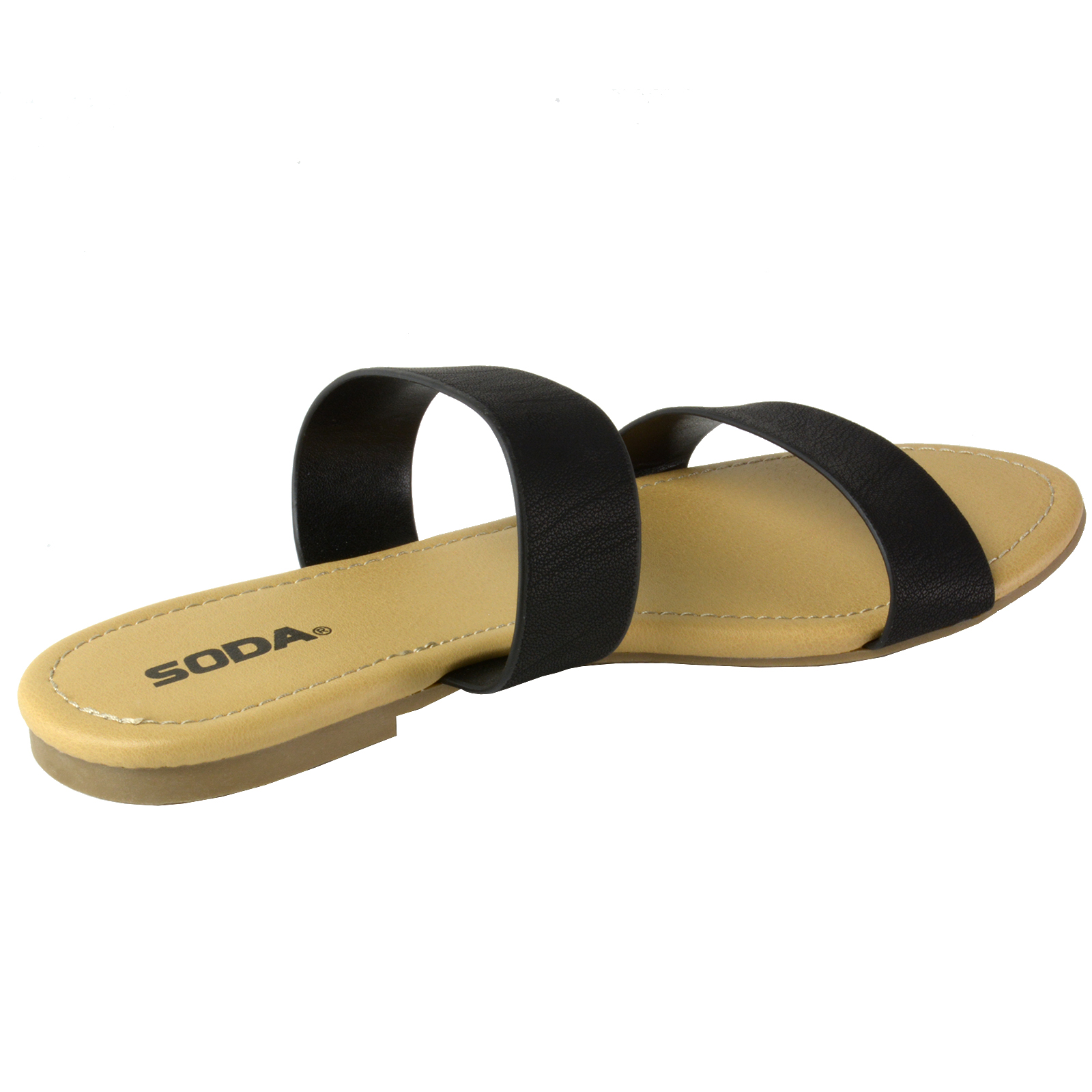 2b768eb2b Soda Browse Women s Slides Slip On Flat Summer Shoes Double Strap ...