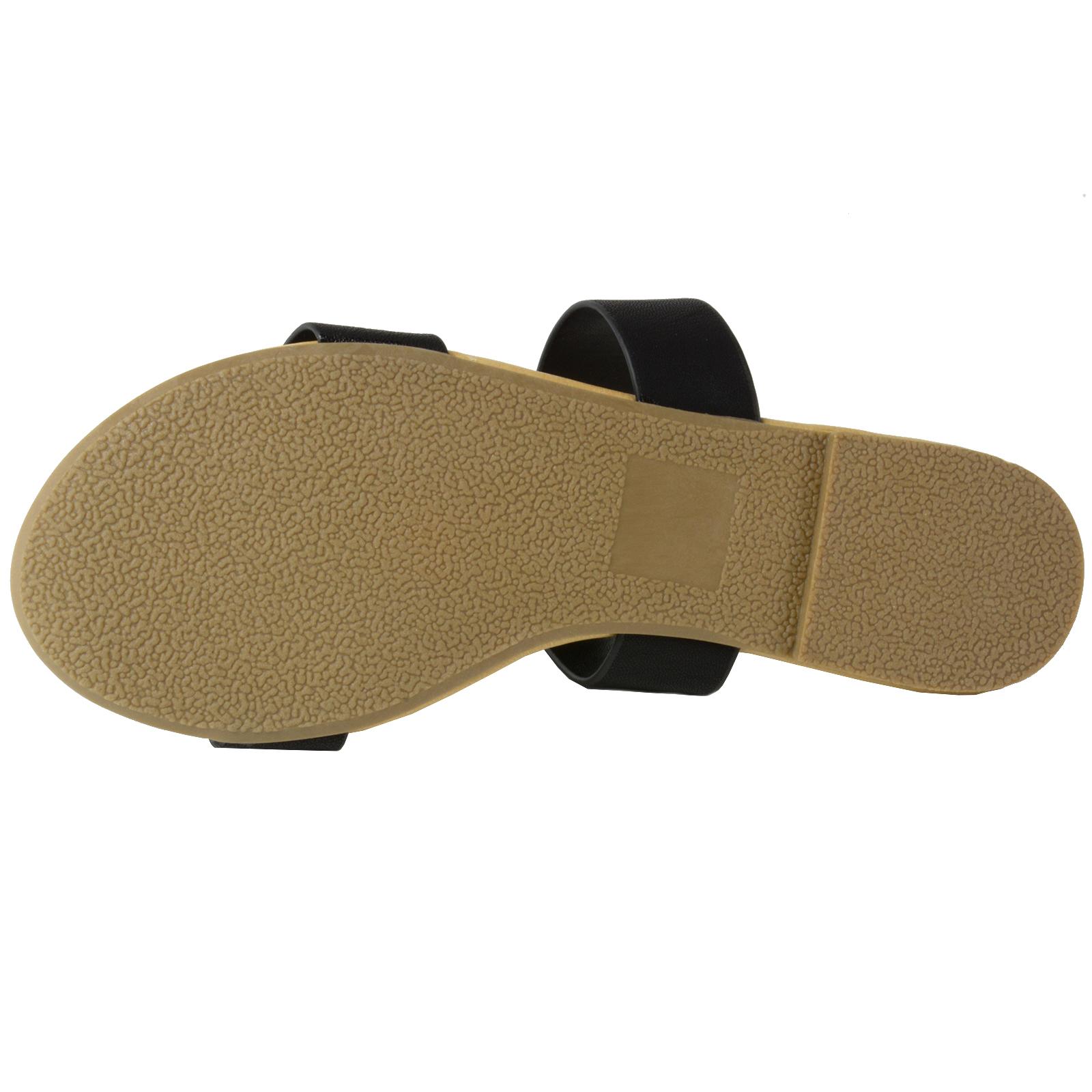 e66297b33 Soda Browse Women s Slides Slip On Flat Summer Shoes Double Strap ...
