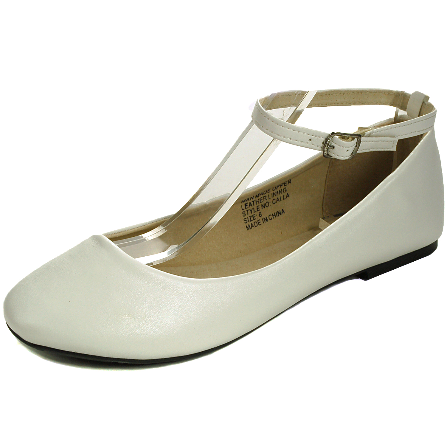 Ballet Flats With Ankle Strap