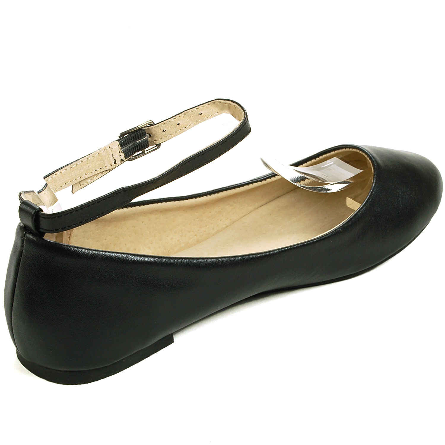 Ankle Strap Ballet Flats. Classic Ballet Flat with Removable Ankle Strap. Round Toe, Easy Slip-On & Slip-Off Flats. Classic Ballet Flat with Removable Ankle Strap for 2 Looks in