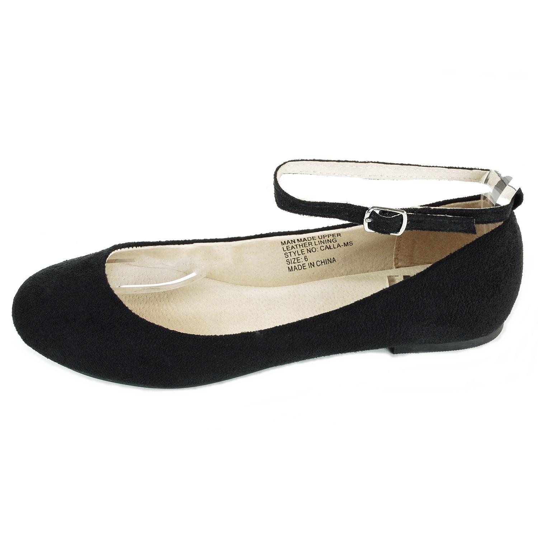 f1bc7904ba3 AlpineSwiss Calla Womens Ballet Flats Ankle Strap Shoe Classic ...
