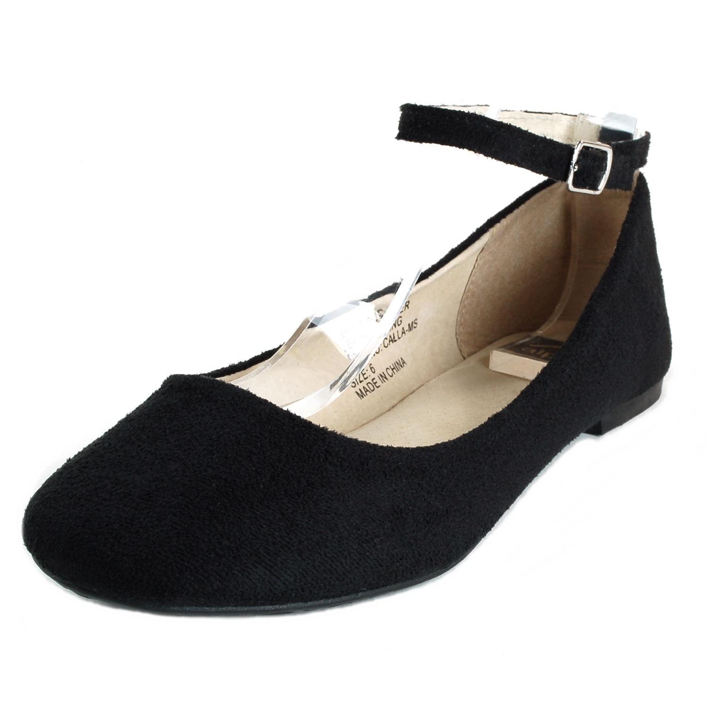 8bad8aebb AlpineSwiss Calla Womens Ballet Flats Ankle Strap Shoe Classic ...