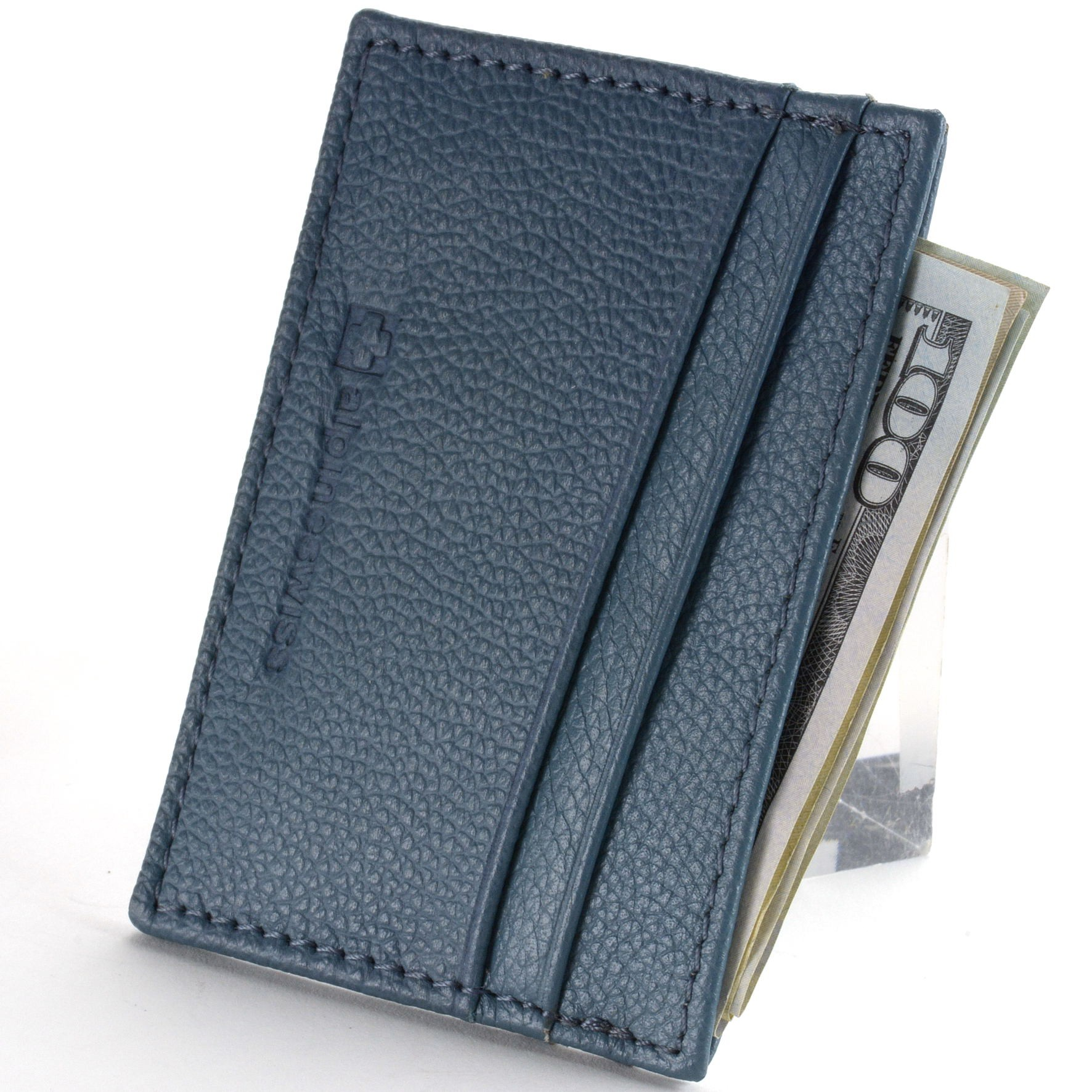 Alpine-Swiss-Super-Slim-Card-Case-Genuine-Leather-ID-Holder-Front-Pocket-Wallet thumbnail 13
