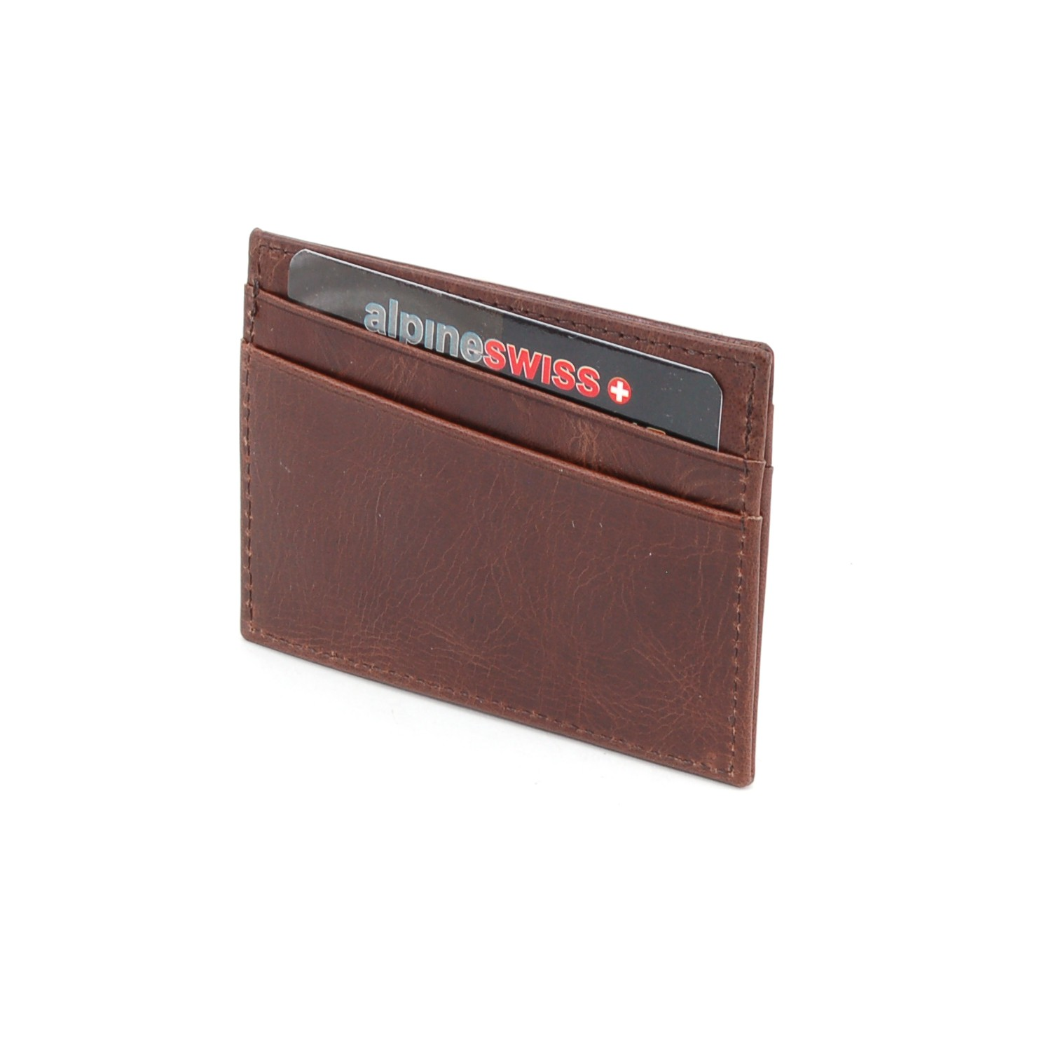 Alpine-Swiss-Super-Slim-Card-Case-Genuine-Leather-ID-Holder-Front-Pocket-Wallet thumbnail 18
