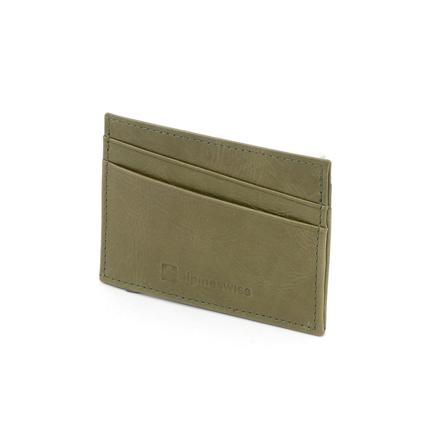 Alpine-Swiss-Super-Slim-Card-Case-Genuine-Leather-ID-Holder-Front-Pocket-Wallet thumbnail 53