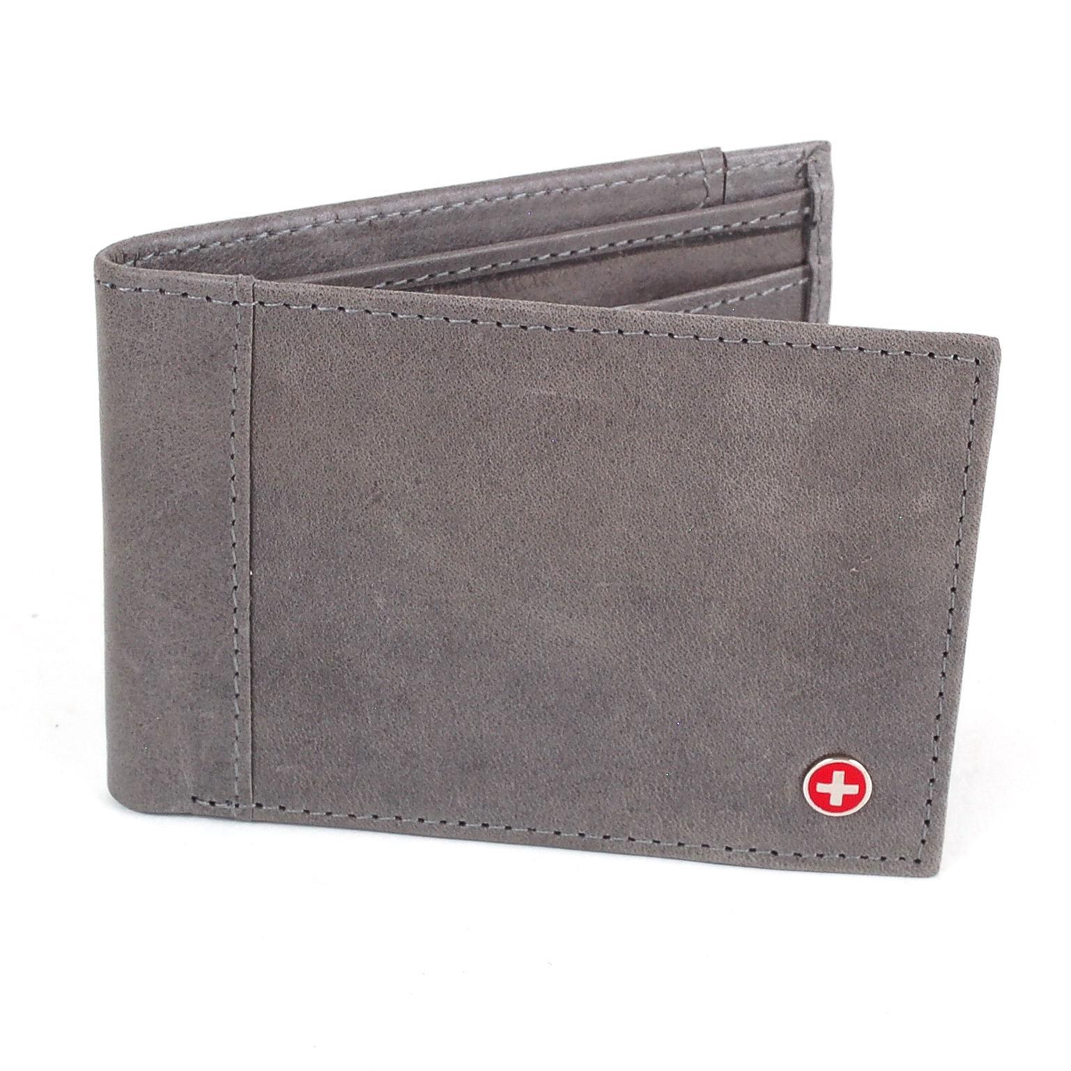 Alpine-Swiss-Mens-Thin-Bifold-Wallet-Top-Grain-Leather-EZ-Access-Outer-Card-Slot thumbnail 64