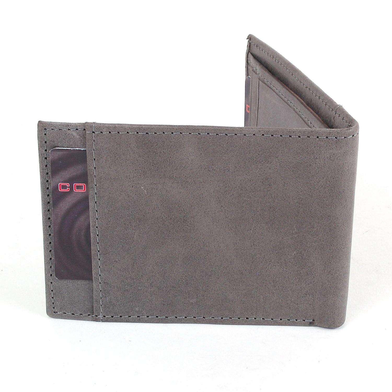 Alpine-Swiss-Mens-Thin-Bifold-Wallet-Top-Grain-Leather-EZ-Access-Outer-Card-Slot thumbnail 67