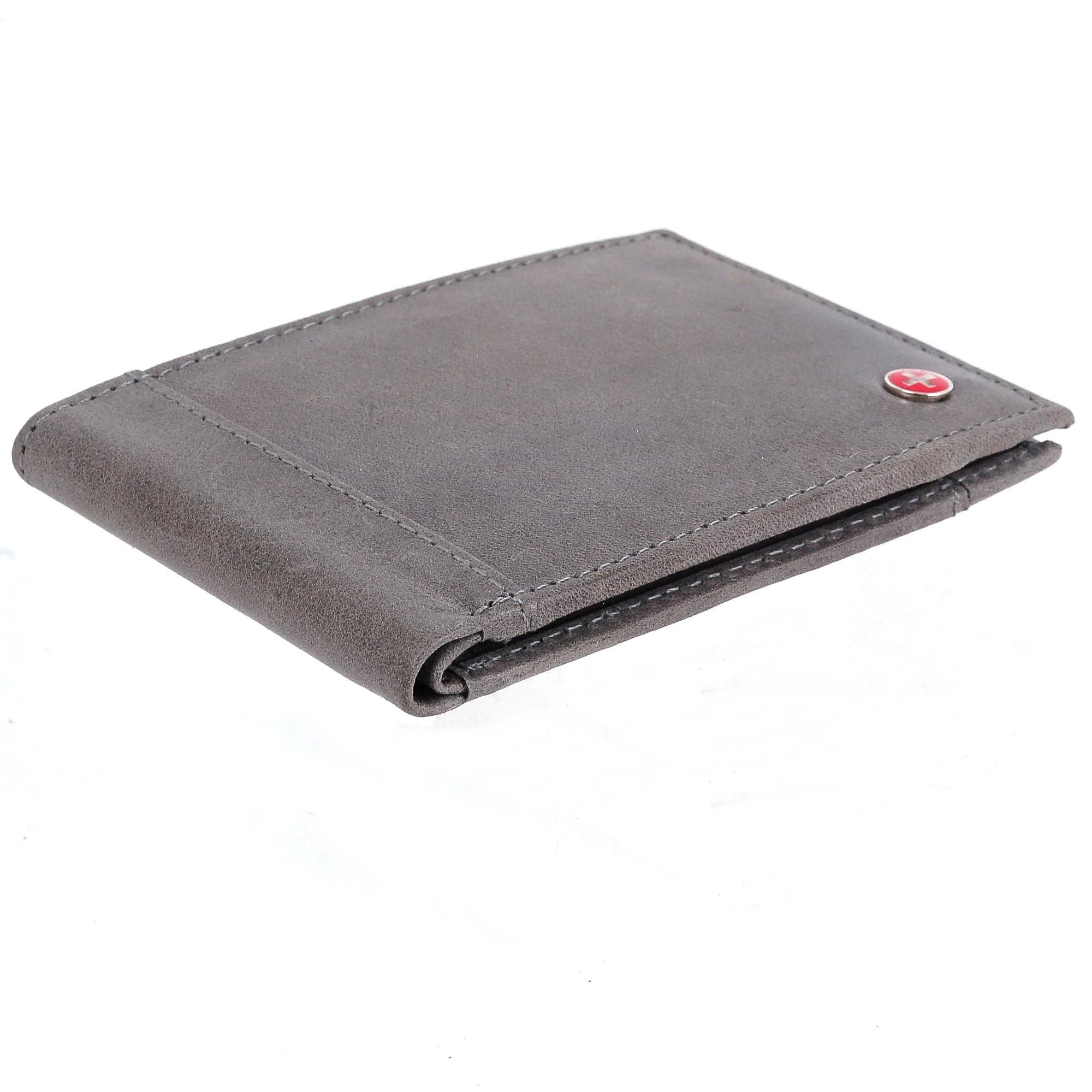 Alpine-Swiss-Mens-Thin-Bifold-Wallet-Top-Grain-Leather-EZ-Access-Outer-Card-Slot thumbnail 66
