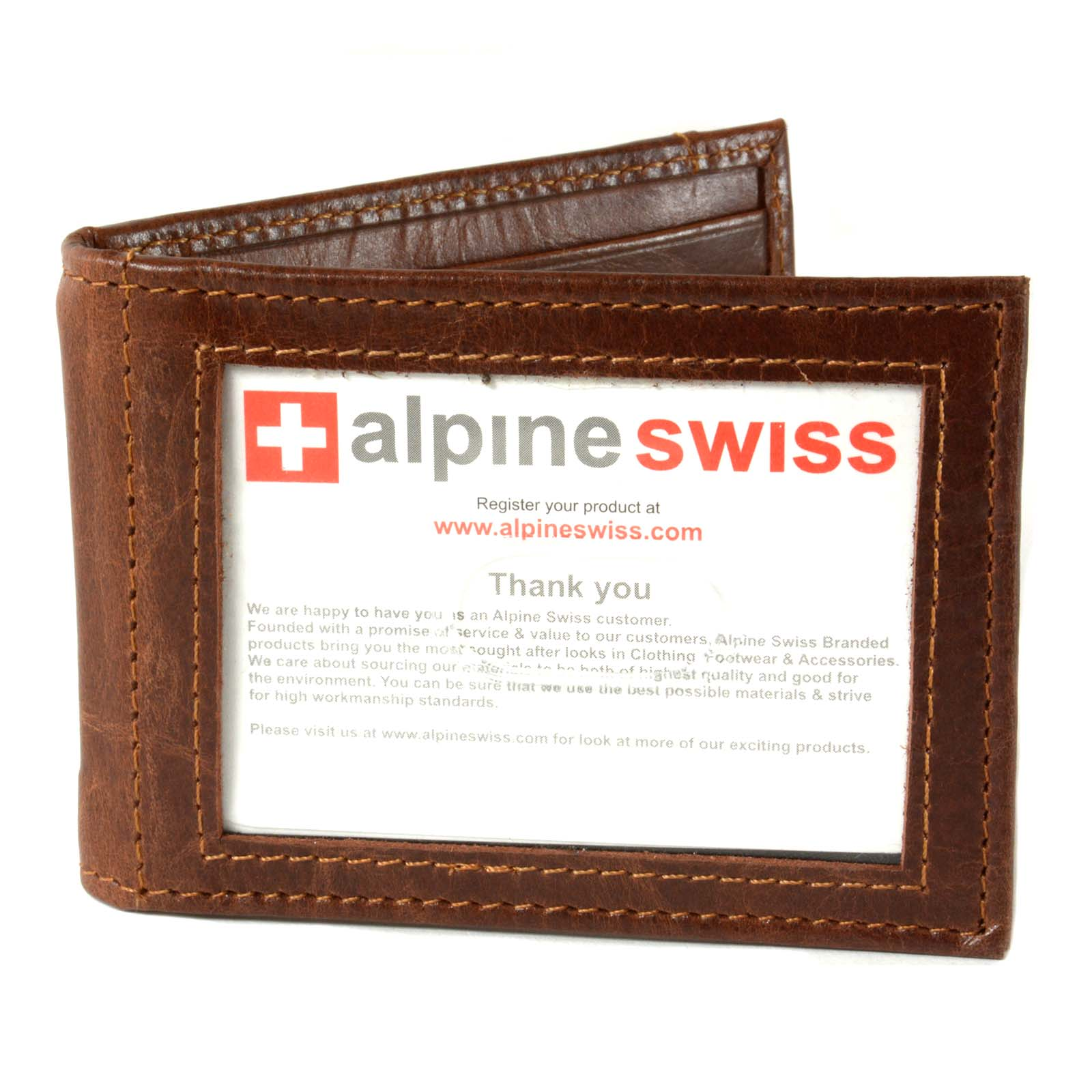 Alpine-Swiss-Mens-Bifold-Money-Clip-Spring-Loaded-Leather-ID-Front-Pocket-Wallet thumbnail 29