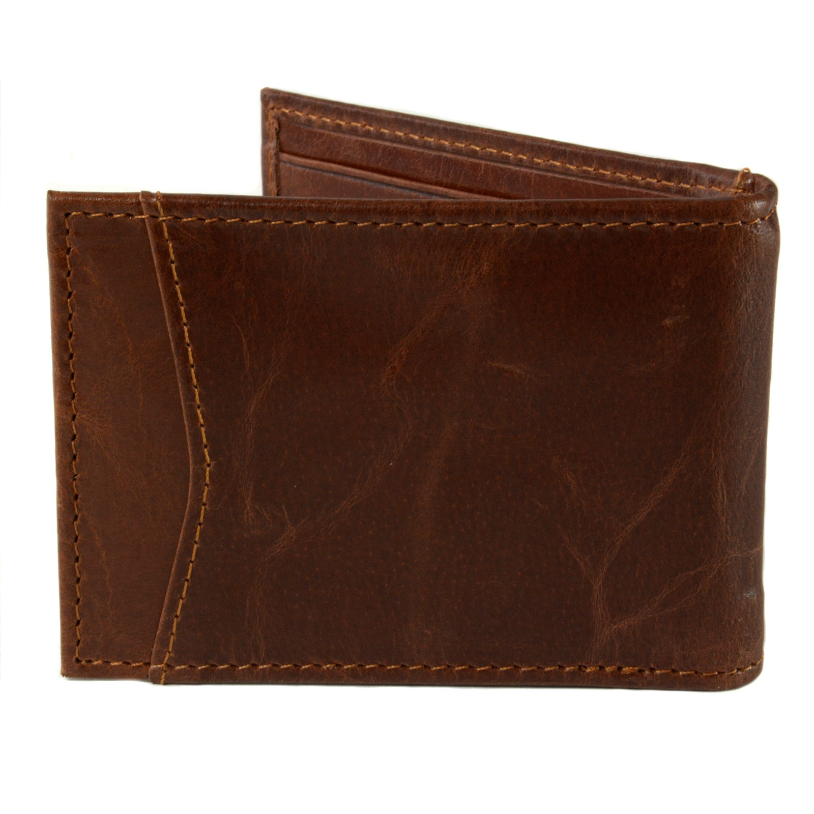 Alpine-Swiss-Mens-Bifold-Money-Clip-Spring-Loaded-Leather-ID-Front-Pocket-Wallet thumbnail 25