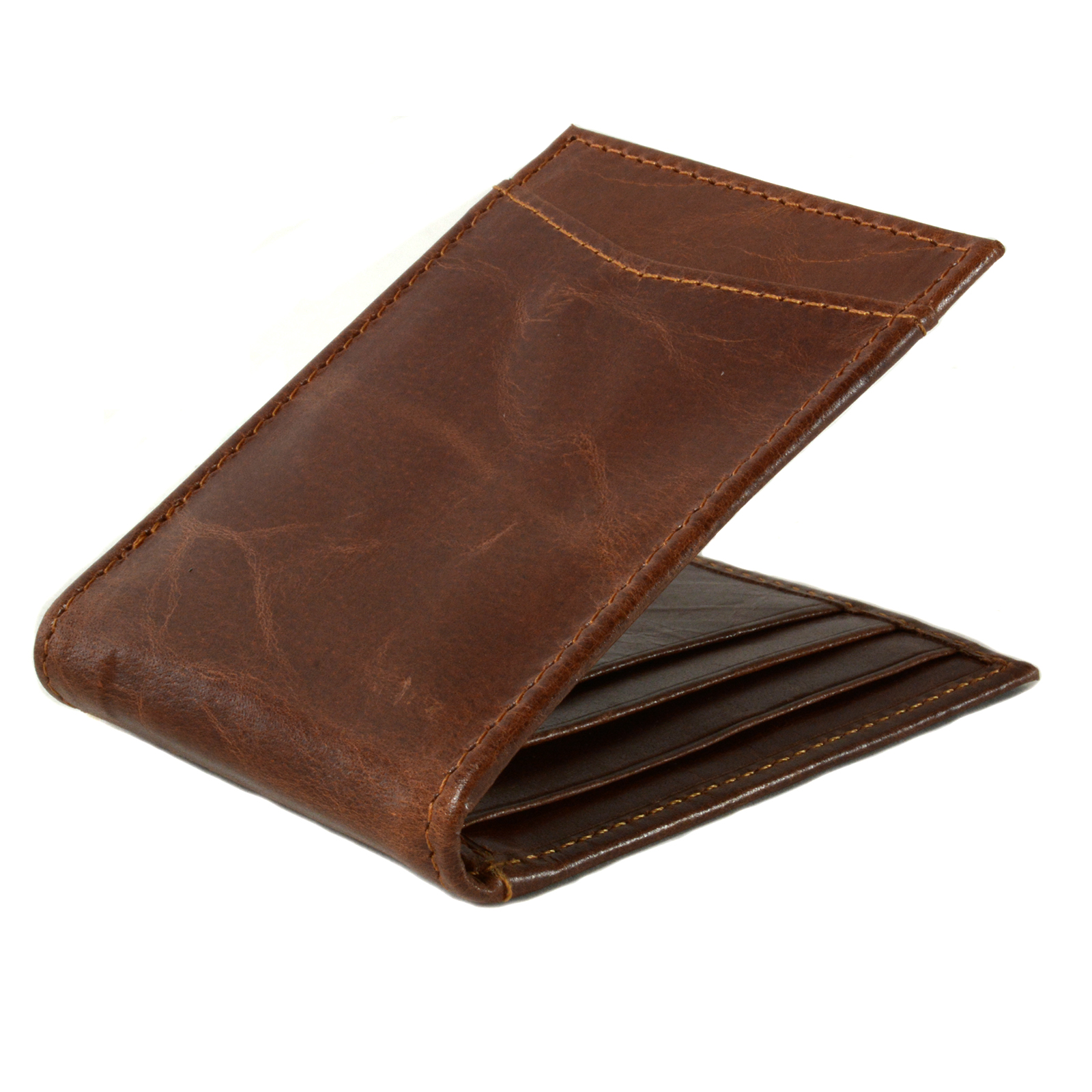 Alpine-Swiss-Mens-Bifold-Money-Clip-Spring-Loaded-Leather-ID-Front-Pocket-Wallet thumbnail 31