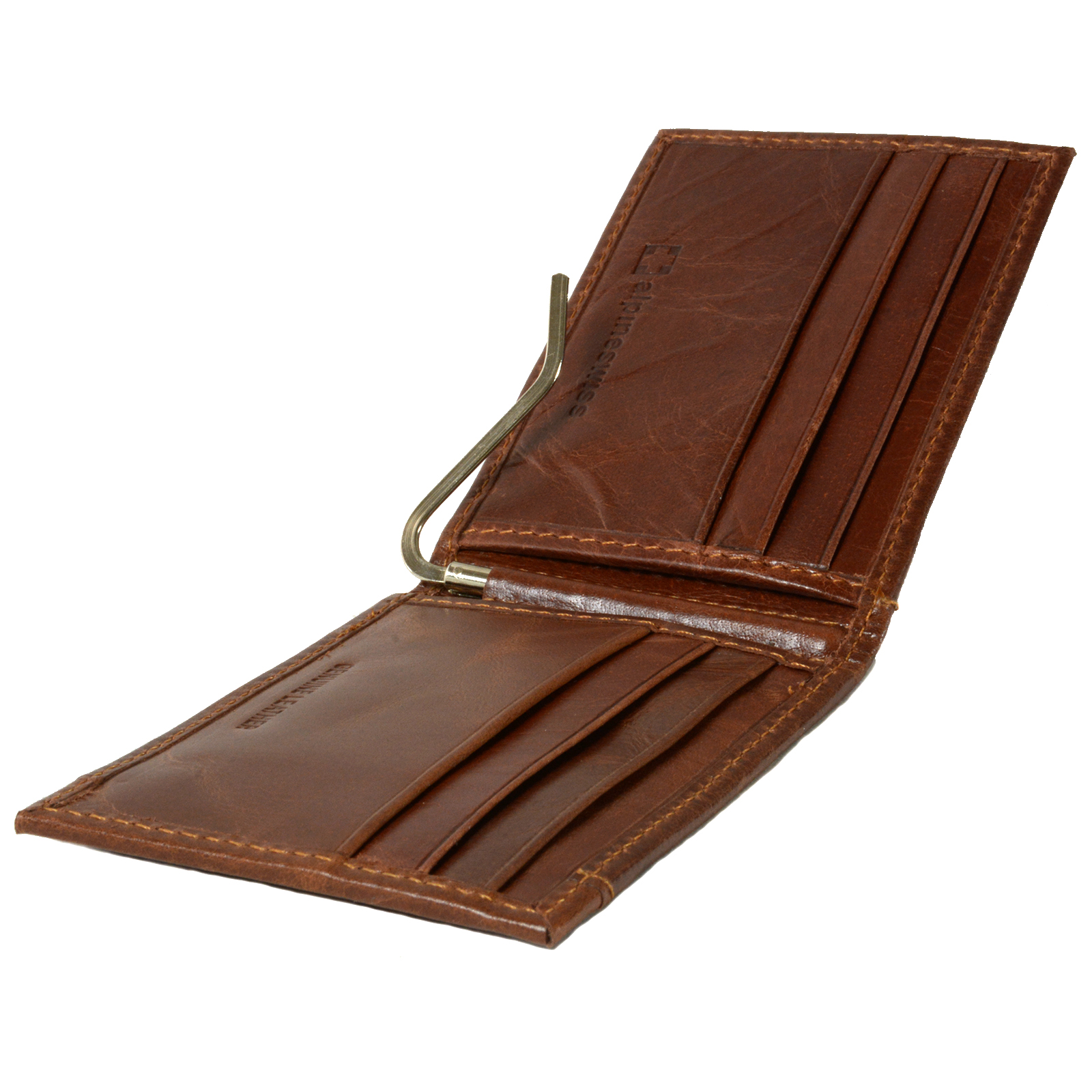 Alpine-Swiss-Mens-Bifold-Money-Clip-Spring-Loaded-Leather-ID-Front-Pocket-Wallet thumbnail 30