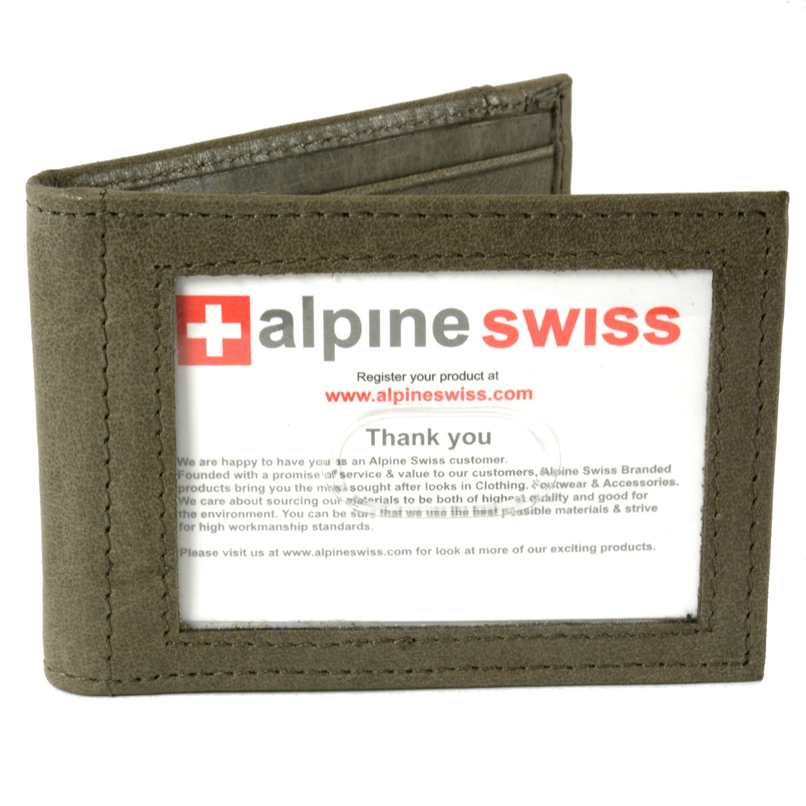 Alpine-Swiss-Mens-Bifold-Money-Clip-Spring-Loaded-Leather-ID-Front-Pocket-Wallet thumbnail 76
