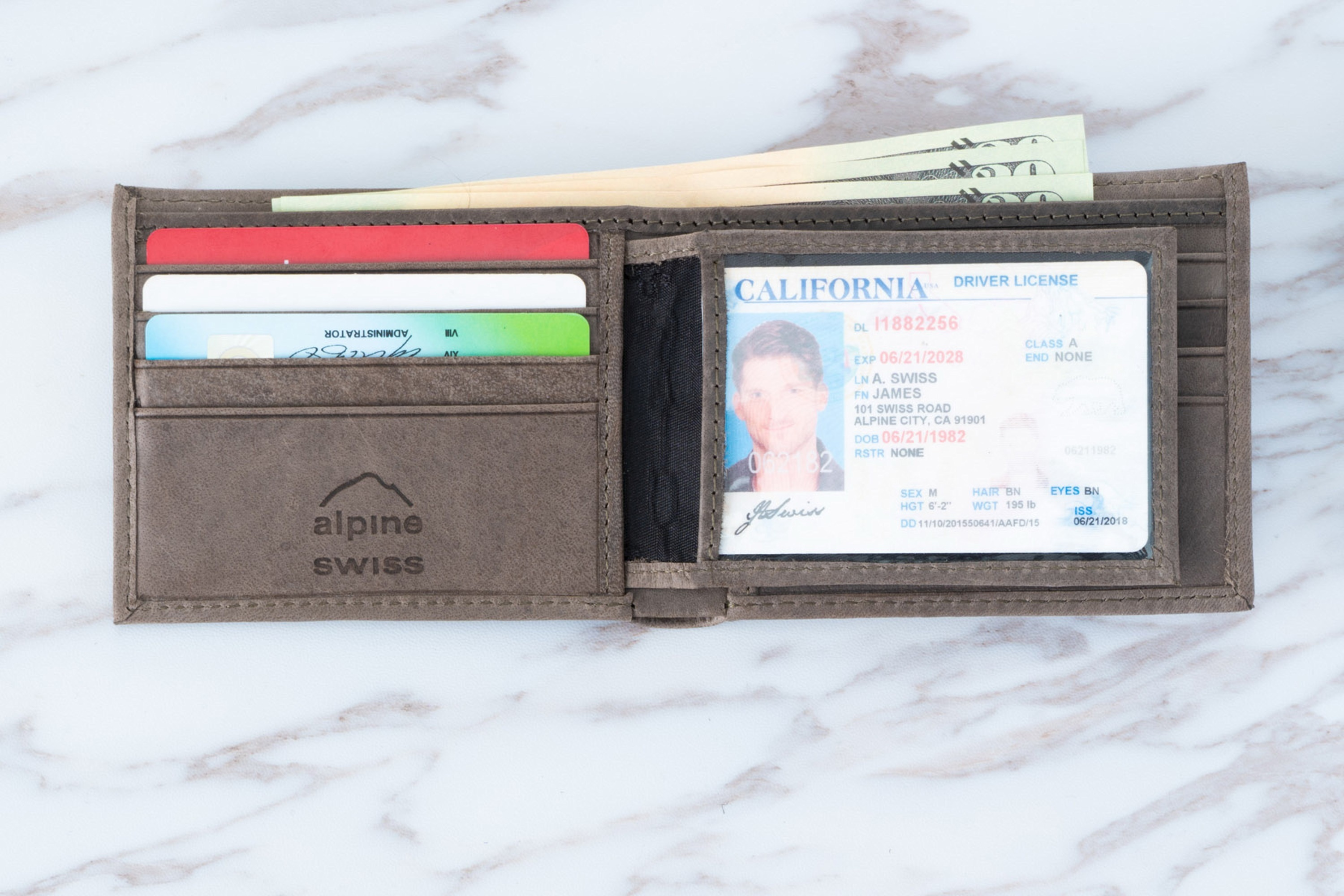 Alpine-Swiss-Mens-Leather-Wallet-Multi-Card-Flip-ID-High-Capacity-Compact-Bifold thumbnail 49