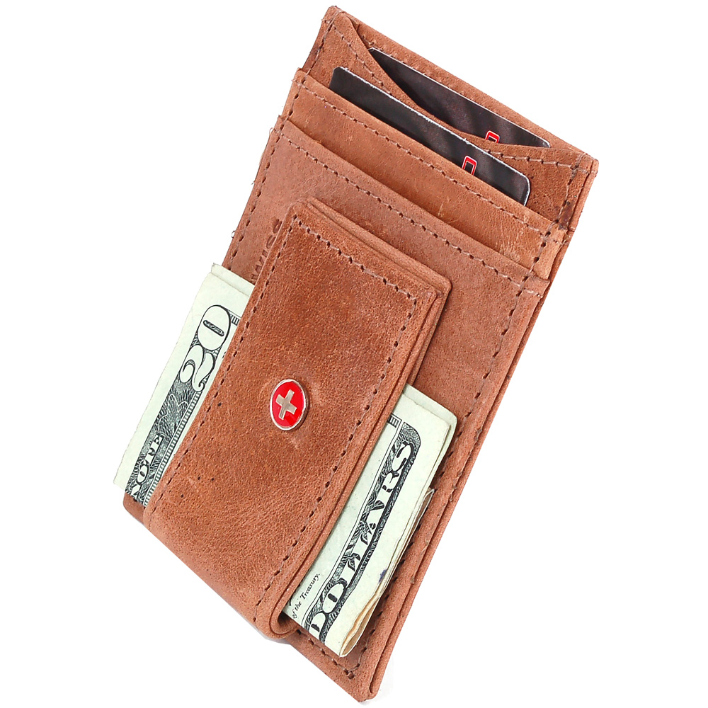 AlpineSwiss-Mens-Leather-Money-Clip-Magnet-Front-Pocket-Wallet-Slim-ID-Card-Case thumbnail 87