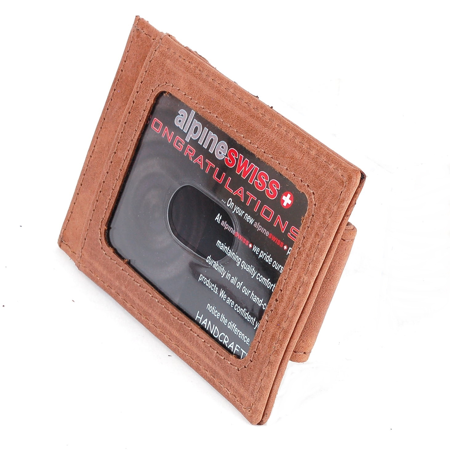AlpineSwiss-Mens-Leather-Money-Clip-Magnet-Front-Pocket-Wallet-Slim-ID-Card-Case thumbnail 85