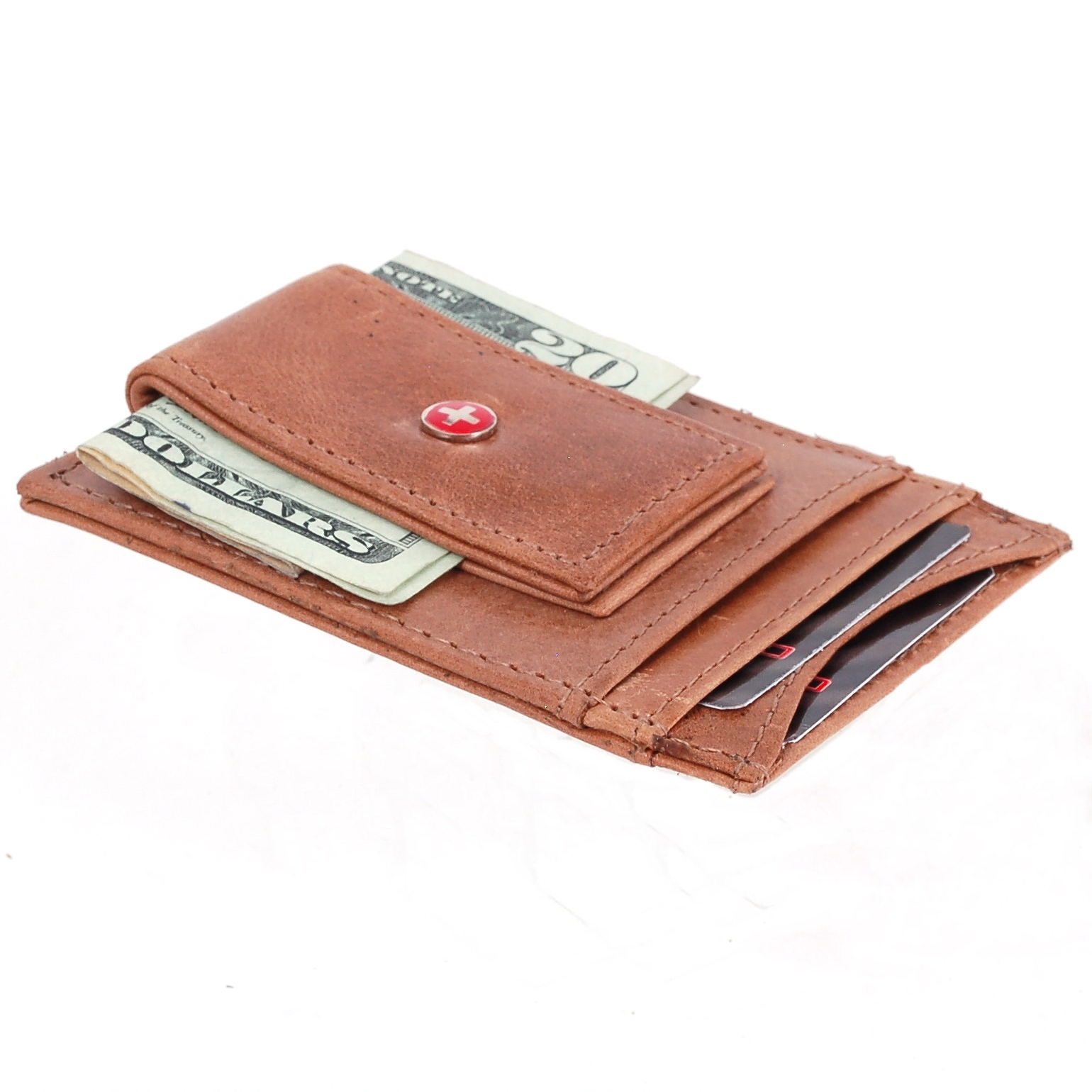 AlpineSwiss-Mens-Leather-Money-Clip-Magnet-Front-Pocket-Wallet-Slim-ID-Card-Case thumbnail 86