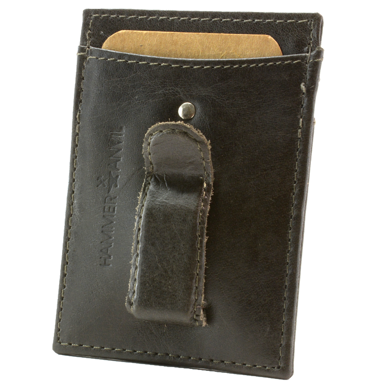 Minimalist Rfid Safe Hammer Anvil Front Pocket Wallet Money Clip Genuine Leather Ebay