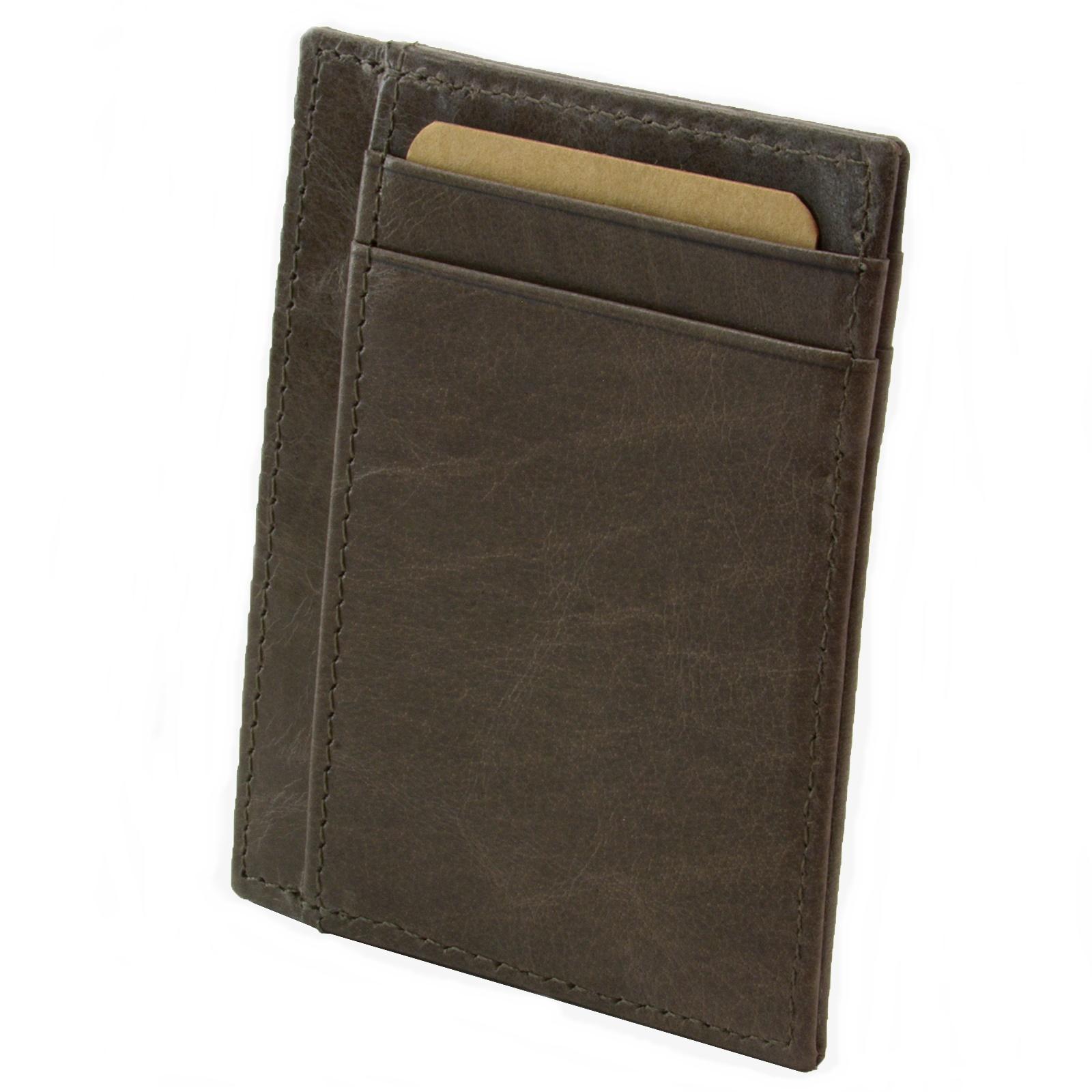 miniature 57 - Hammer-Anvil-Minimalist-Front-Pocket-Wallet-RFID-Blocking-Thin-Leather-Card-Case