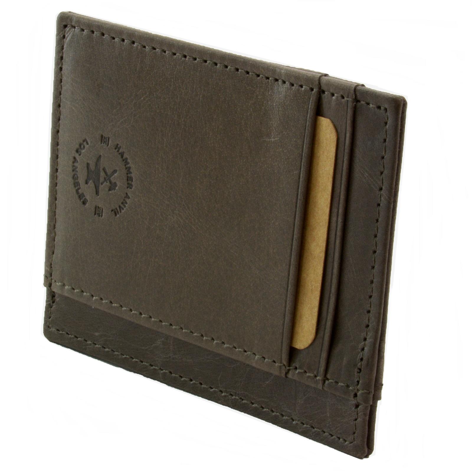 miniature 61 - Hammer-Anvil-Minimalist-Front-Pocket-Wallet-RFID-Blocking-Thin-Leather-Card-Case