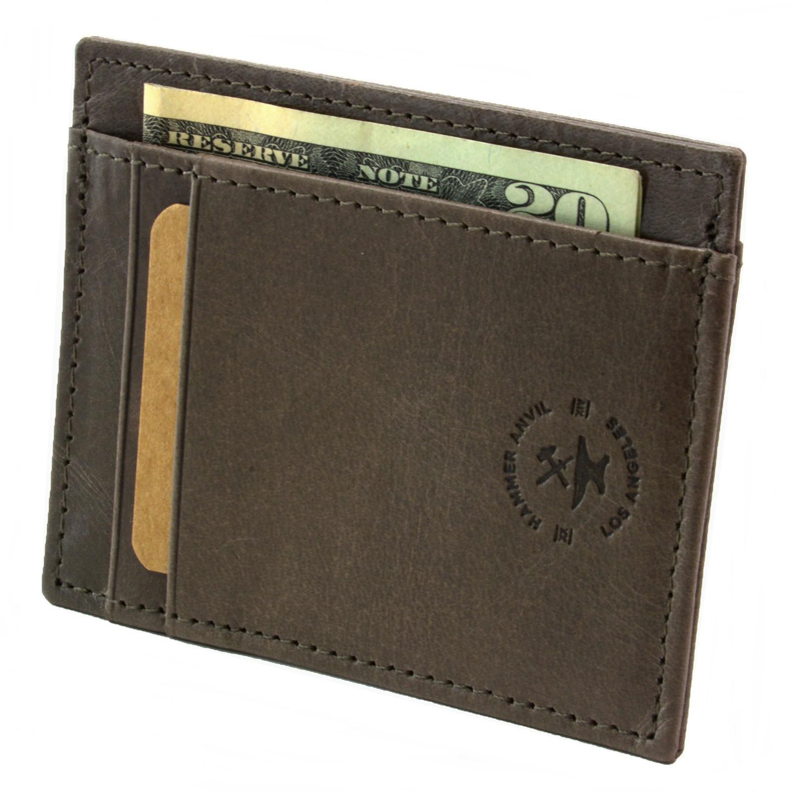 miniature 63 - Hammer-Anvil-Minimalist-Front-Pocket-Wallet-RFID-Blocking-Thin-Leather-Card-Case