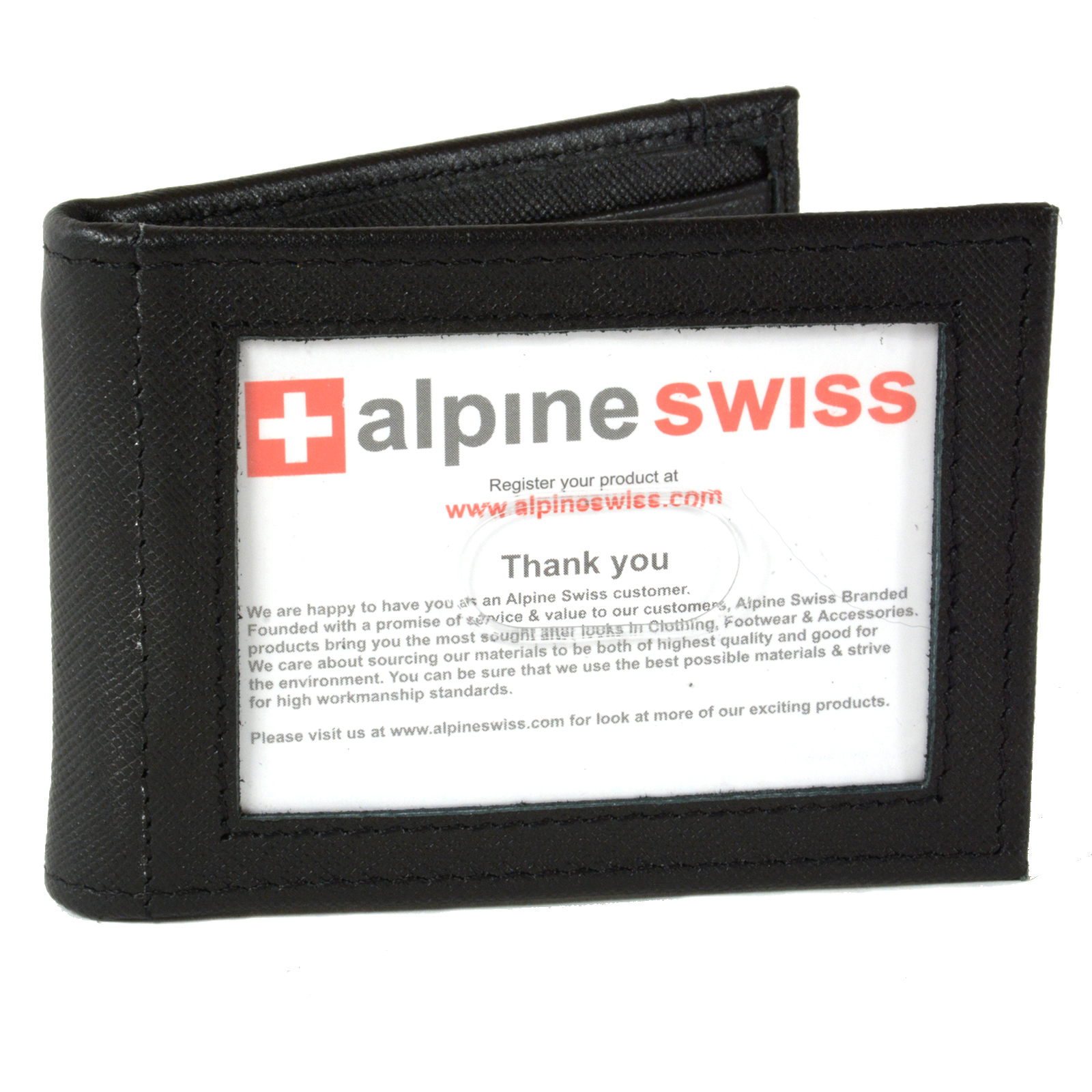 Alpine-Swiss-Mens-Bifold-Money-Clip-Spring-Loaded-Leather-ID-Front-Pocket-Wallet thumbnail 34