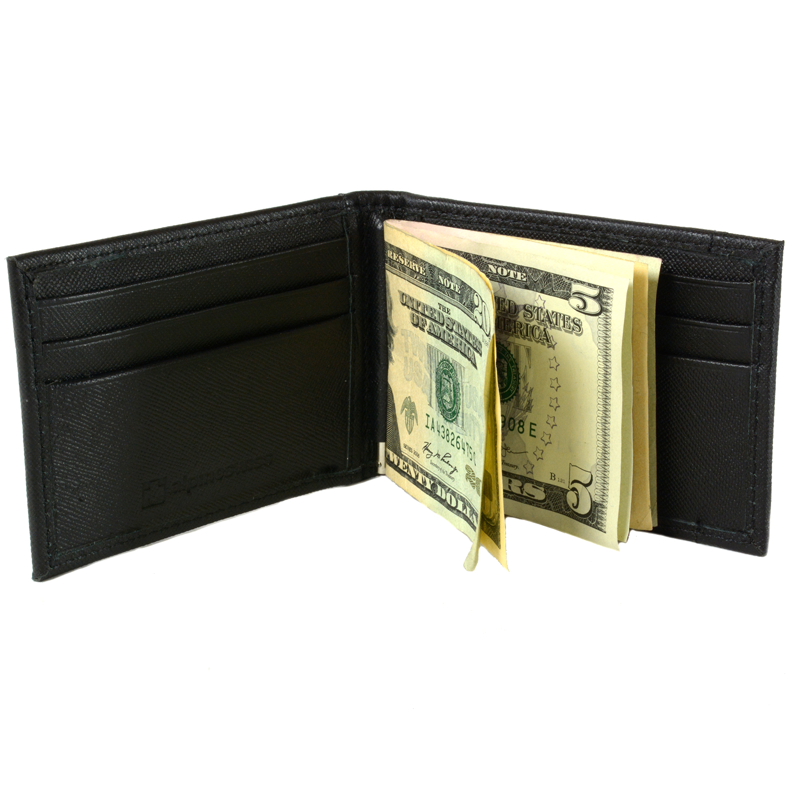 Alpine-Swiss-Mens-Bifold-Money-Clip-Spring-Loaded-Leather-ID-Front-Pocket-Wallet thumbnail 35