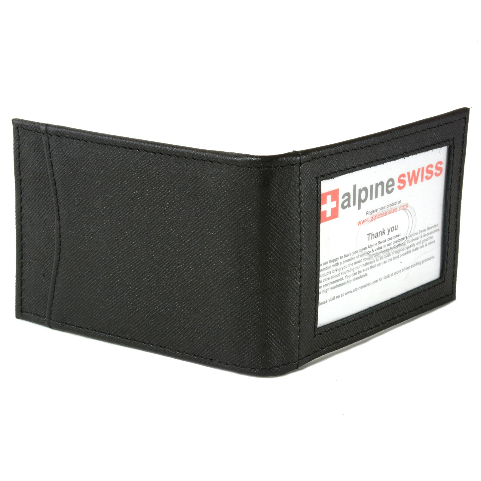 Alpine-Swiss-Mens-Bifold-Money-Clip-Spring-Loaded-Leather-ID-Front-Pocket-Wallet thumbnail 39