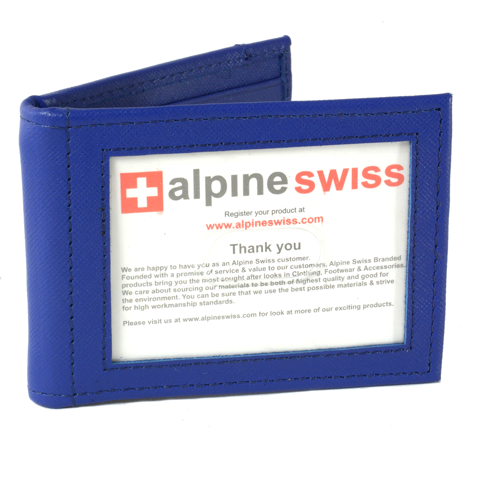 Alpine-Swiss-Mens-Bifold-Money-Clip-Spring-Loaded-Leather-ID-Front-Pocket-Wallet thumbnail 45