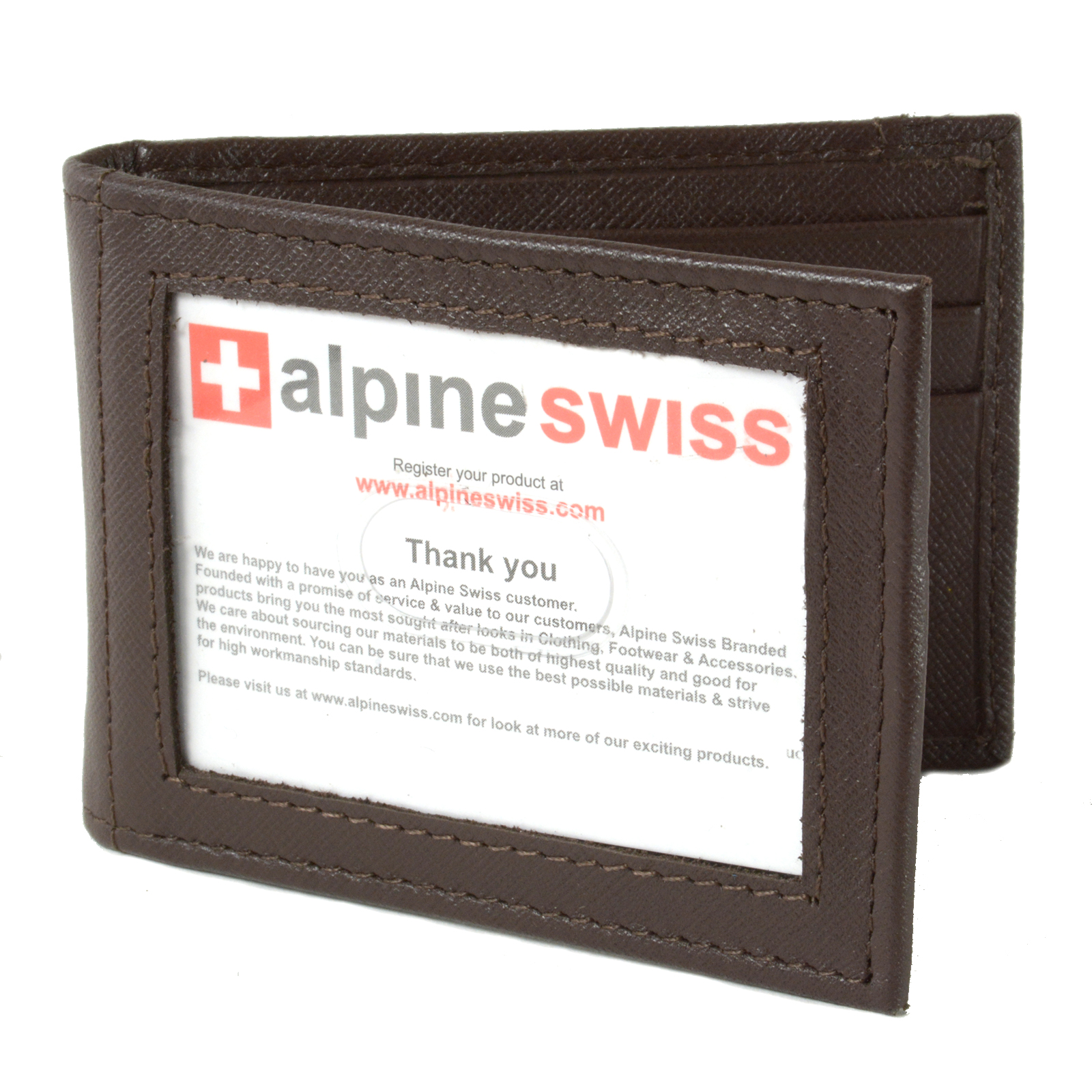 Alpine-Swiss-Mens-Bifold-Money-Clip-Spring-Loaded-Leather-ID-Front-Pocket-Wallet thumbnail 54