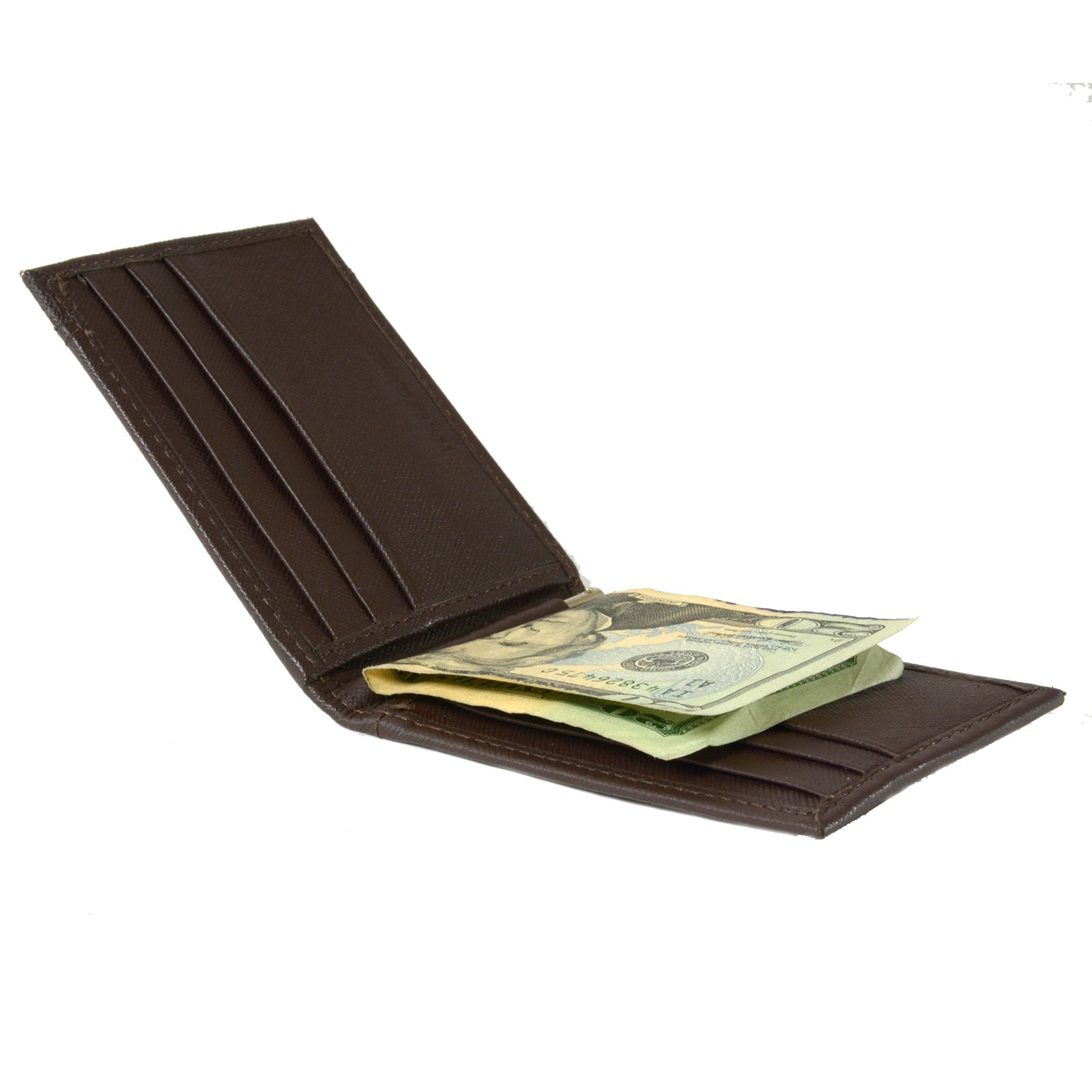 Alpine-Swiss-Mens-Bifold-Money-Clip-Spring-Loaded-Leather-ID-Front-Pocket-Wallet thumbnail 60