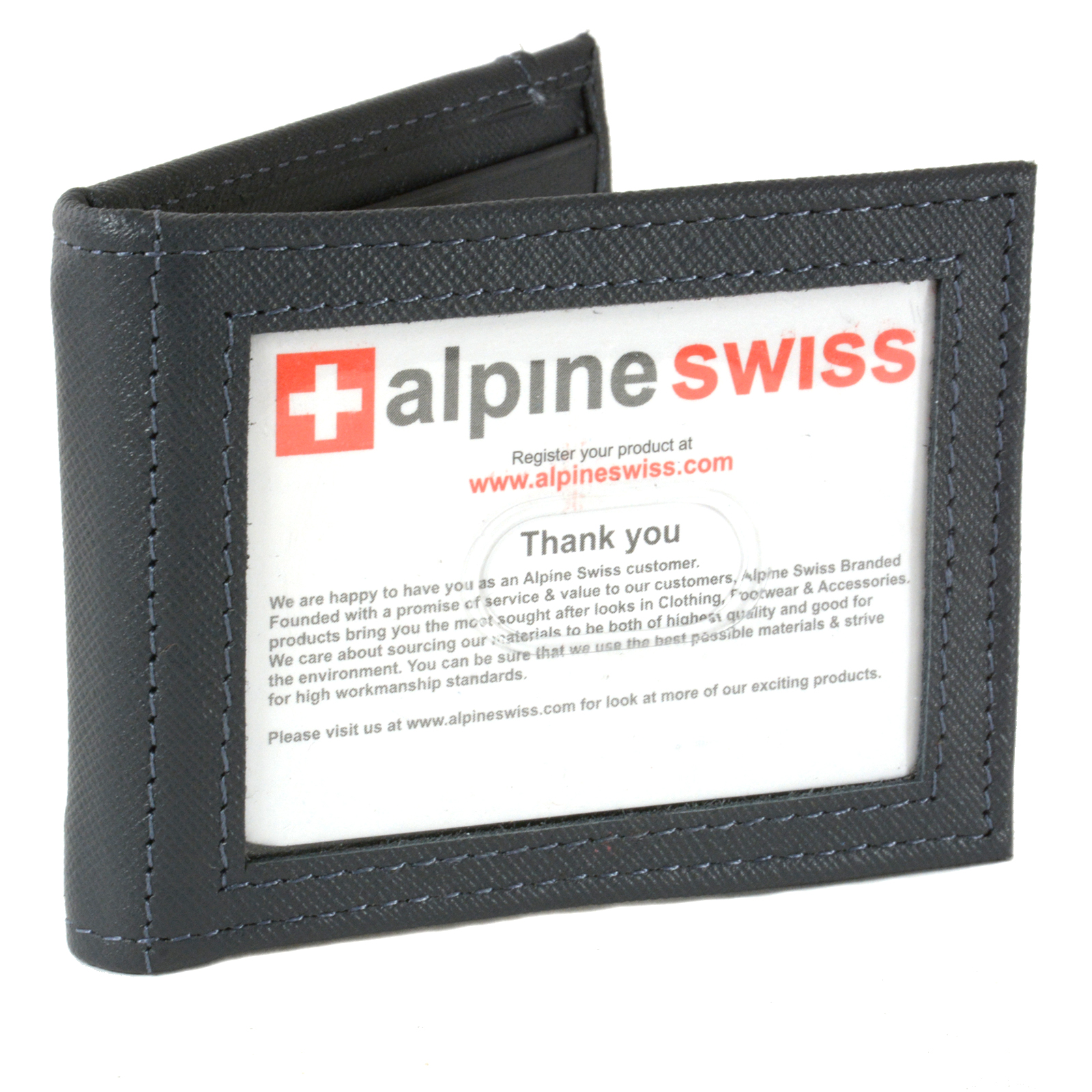 Alpine-Swiss-Mens-Bifold-Money-Clip-Spring-Loaded-Leather-ID-Front-Pocket-Wallet thumbnail 67