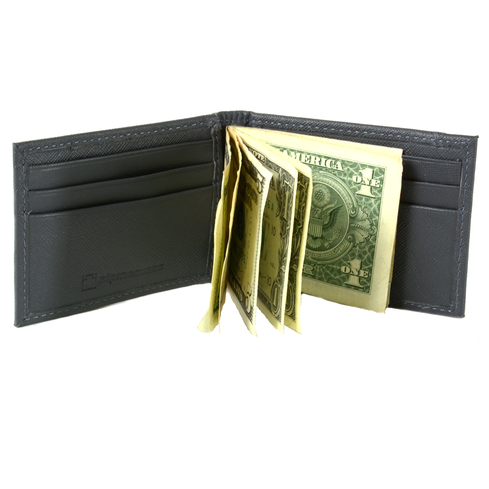 Alpine-Swiss-Mens-Bifold-Money-Clip-Spring-Loaded-Leather-ID-Front-Pocket-Wallet thumbnail 63