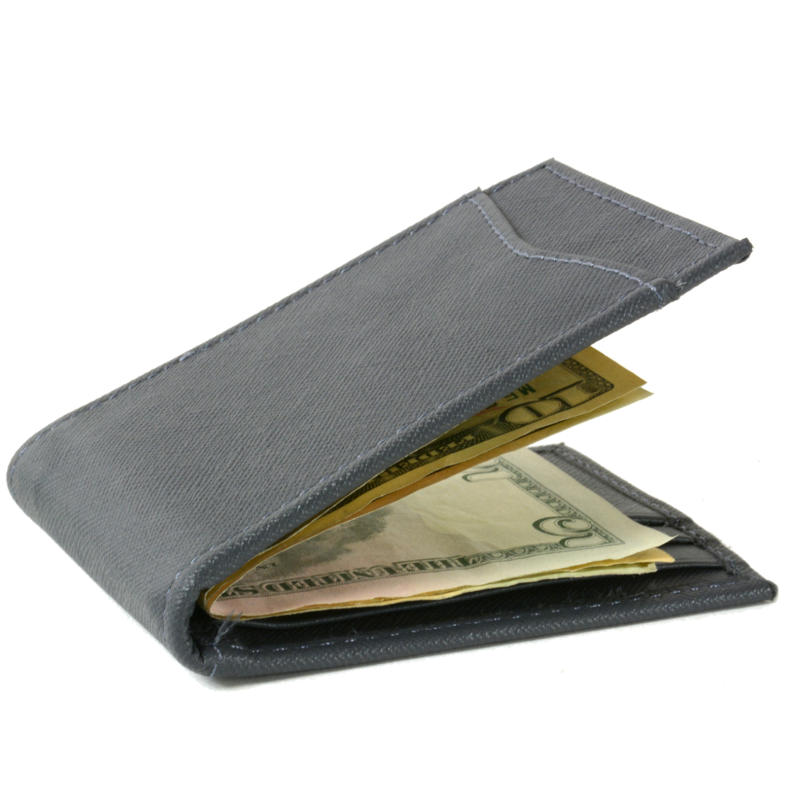 Alpine-Swiss-Mens-Bifold-Money-Clip-Spring-Loaded-Leather-ID-Front-Pocket-Wallet thumbnail 71