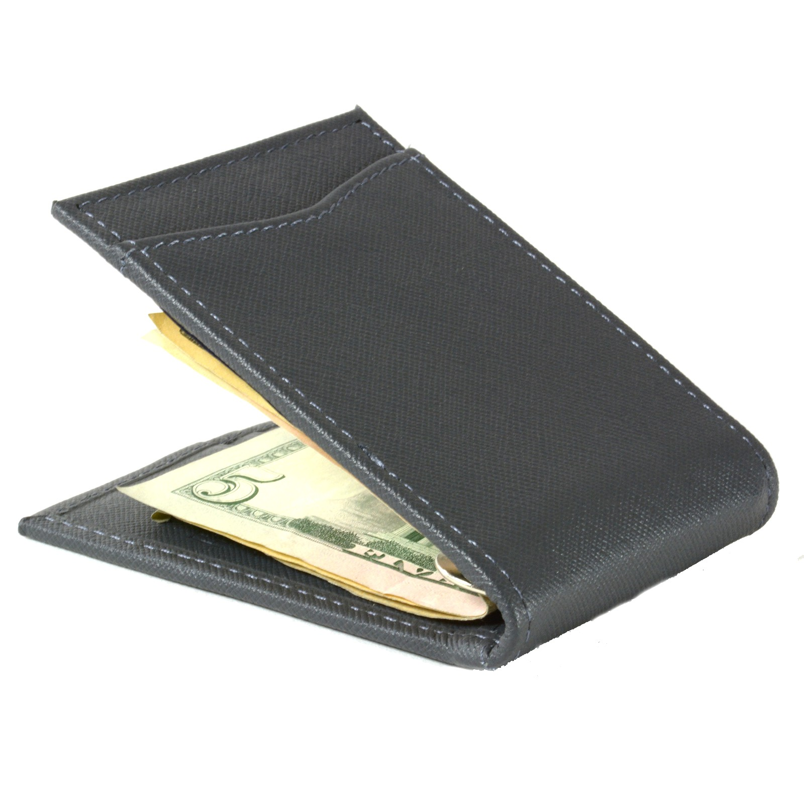 Alpine-Swiss-Mens-Bifold-Money-Clip-Spring-Loaded-Leather-ID-Front-Pocket-Wallet thumbnail 72